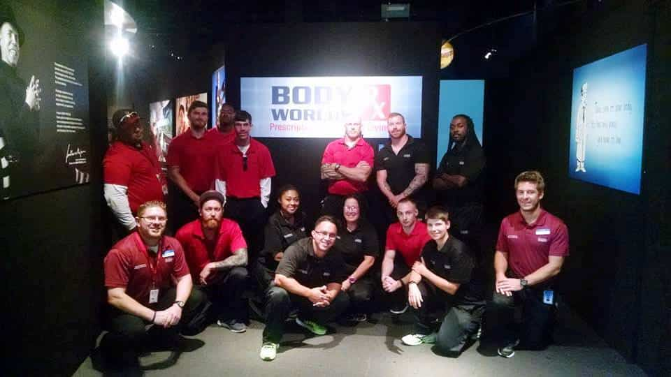Jacksonville Sports Medicine Program Visits Body Worlds Rx Exhibit