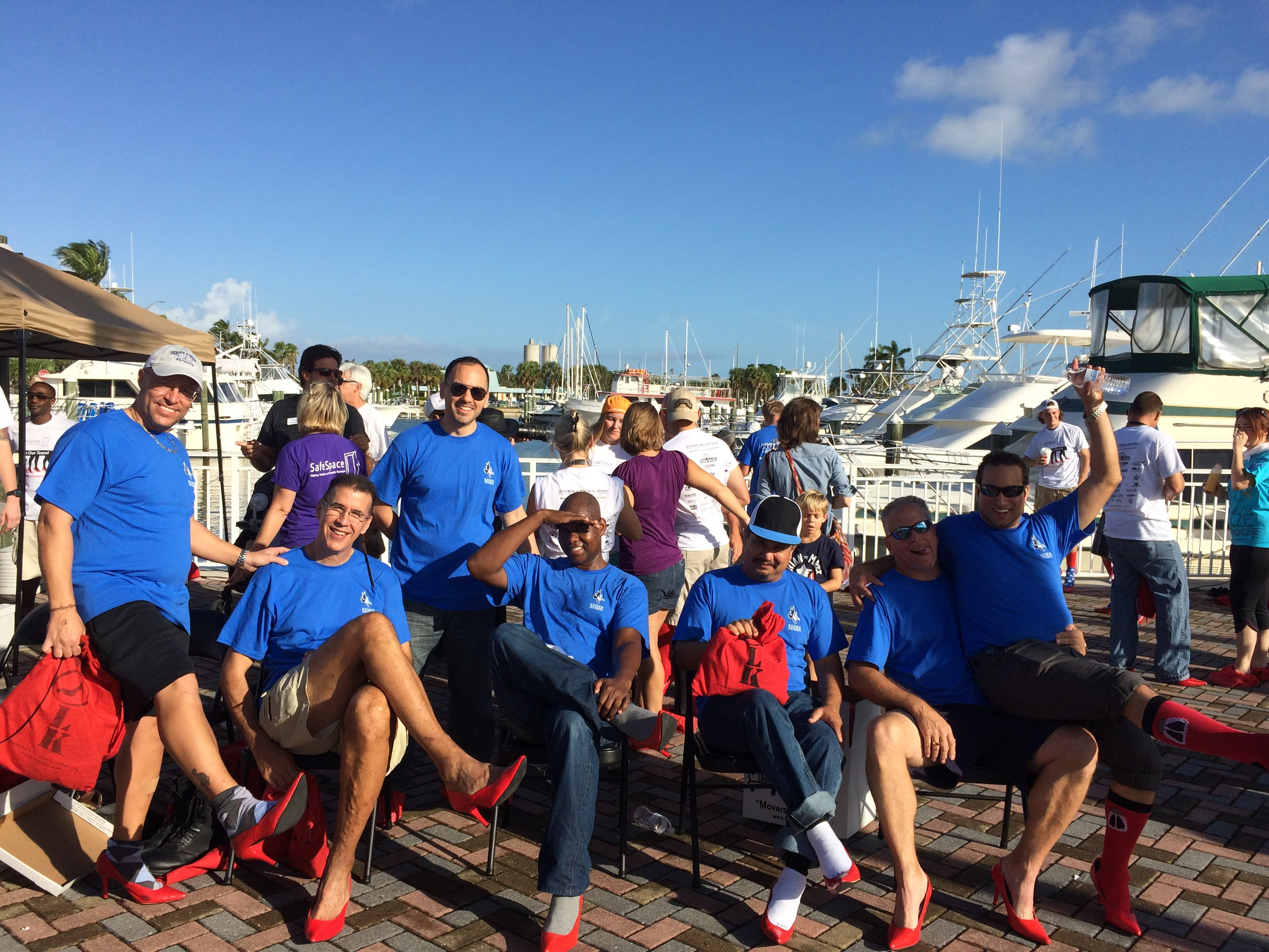 "A Team from the Port St. Lucie Campus Participated in ""Walk a Mile in her Shoes"""