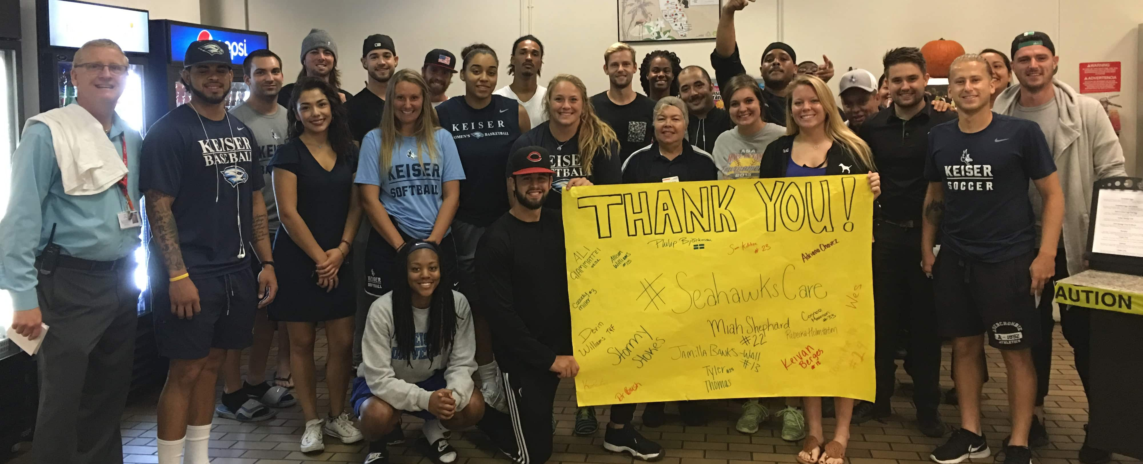"Flagship Campus Students Launch ""Seahawks Care"" Movement"