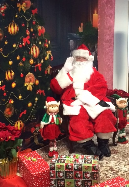 Santa Visits the Office of the Chancellor to Help CFF