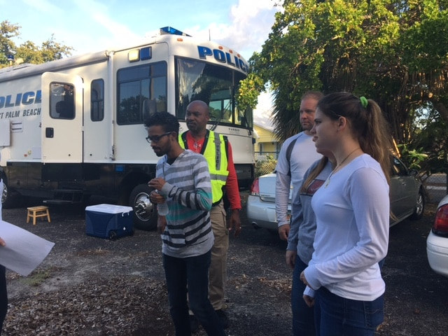 West Palm Beach Students Volunteer to Assist with Tactical Training