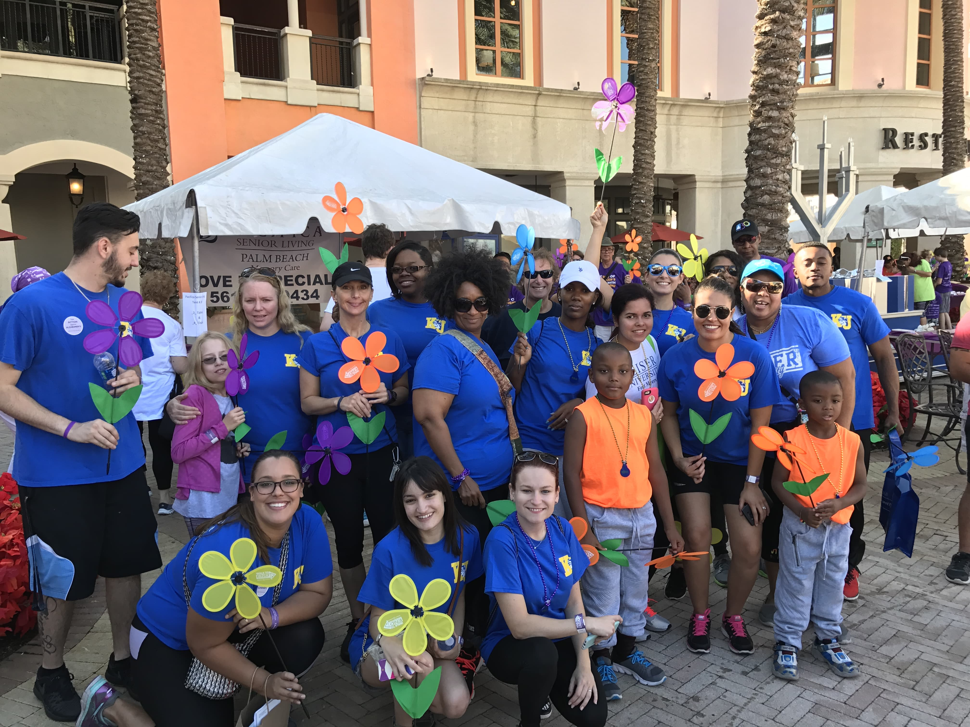 West Palm Beach OTA Students Participate in Alzheimer's Walk
