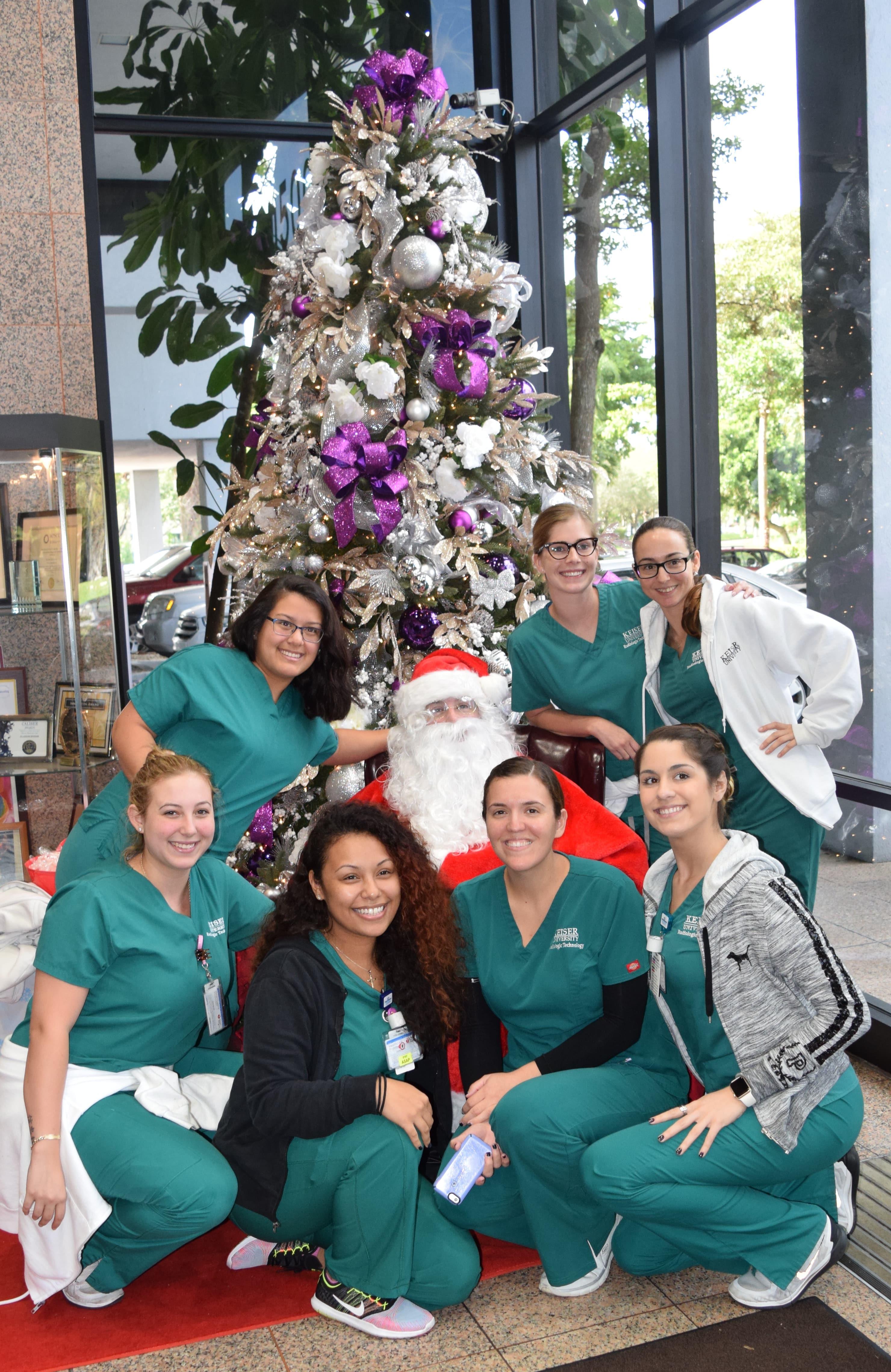 Santa Visits the Ft. Lauderdale Campus