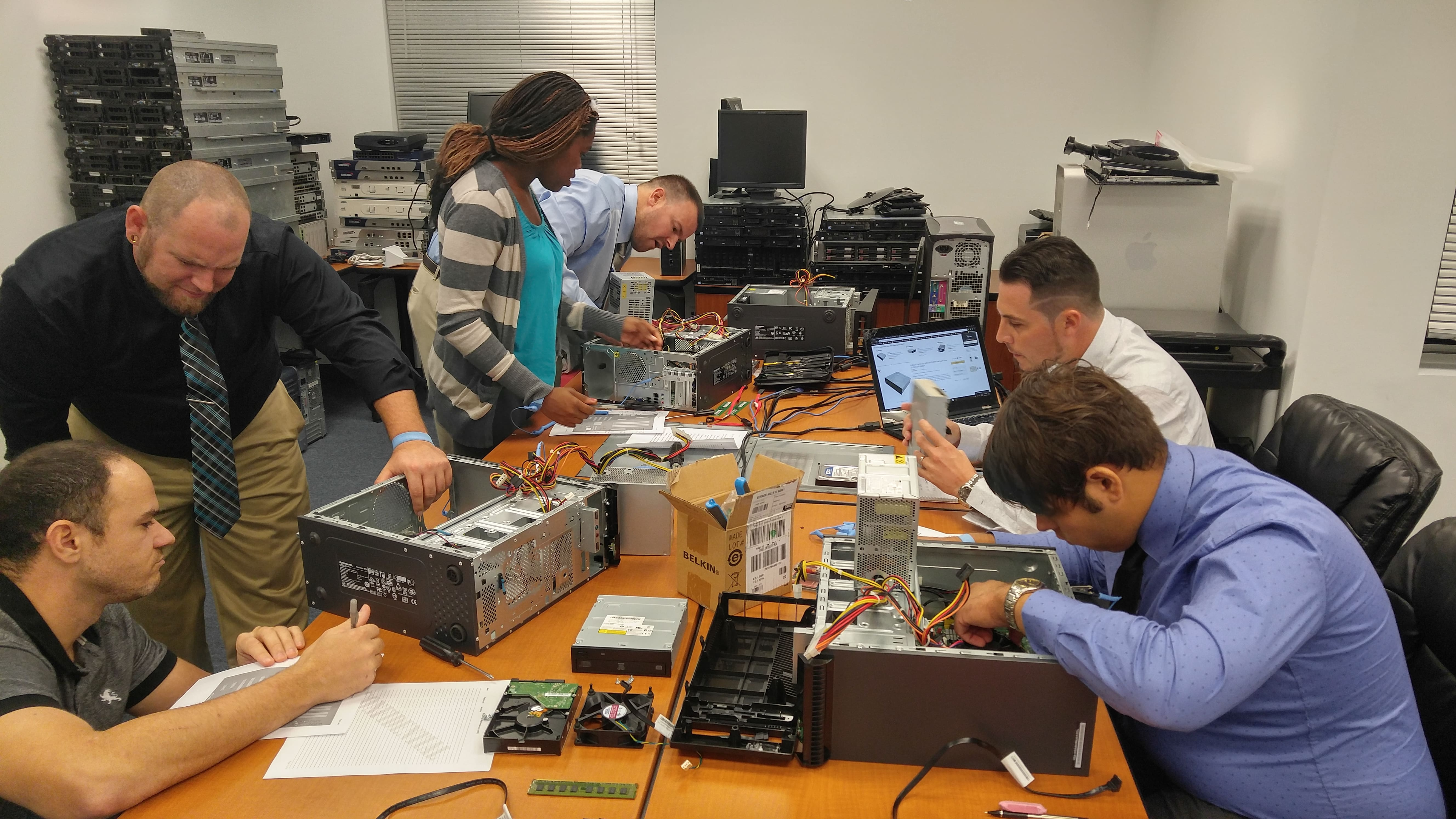 Breaking Down and Building Up PC's at Keiser University Fort Myers
