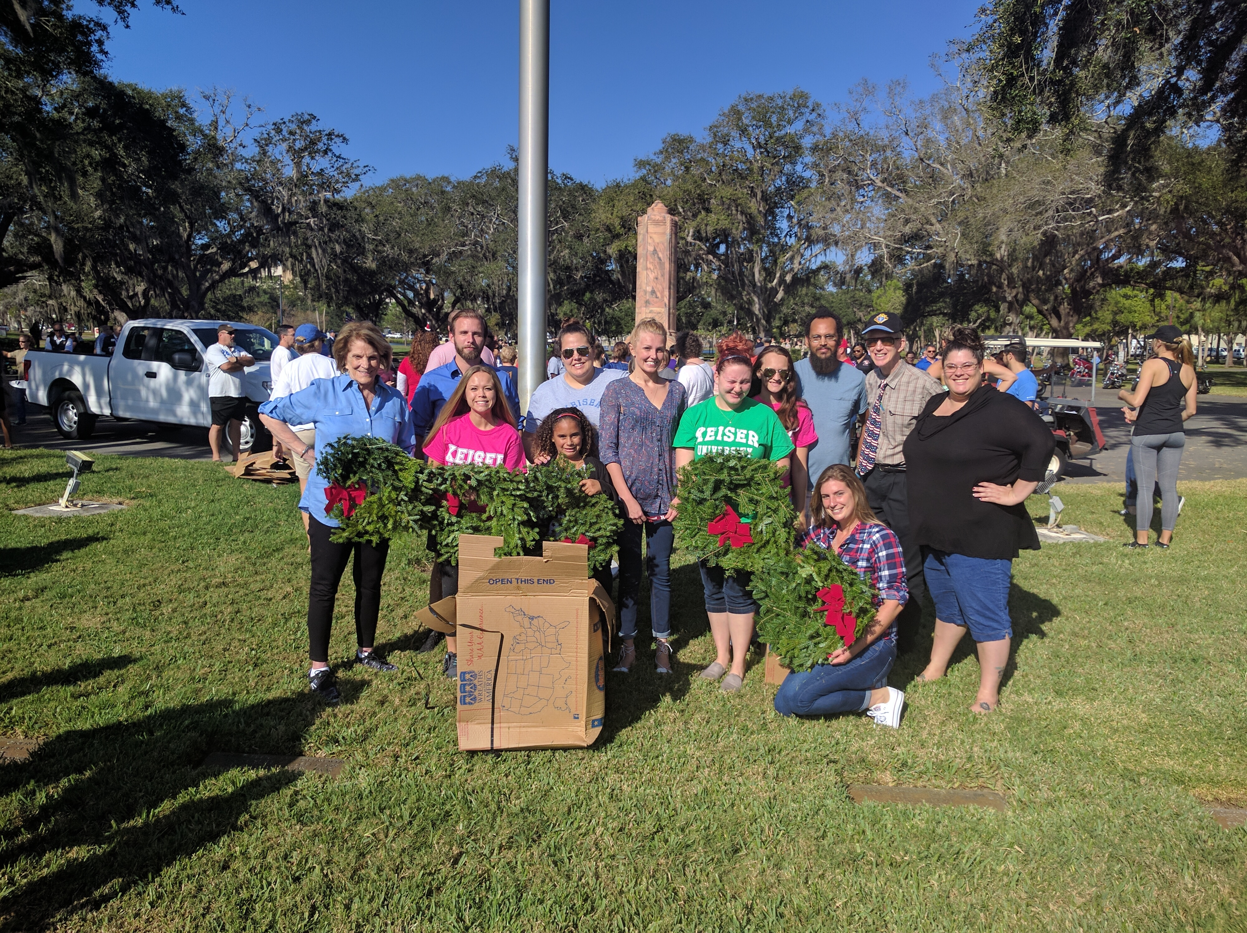 "The Clearwater Campus Participates in ""Wreaths Across America"""