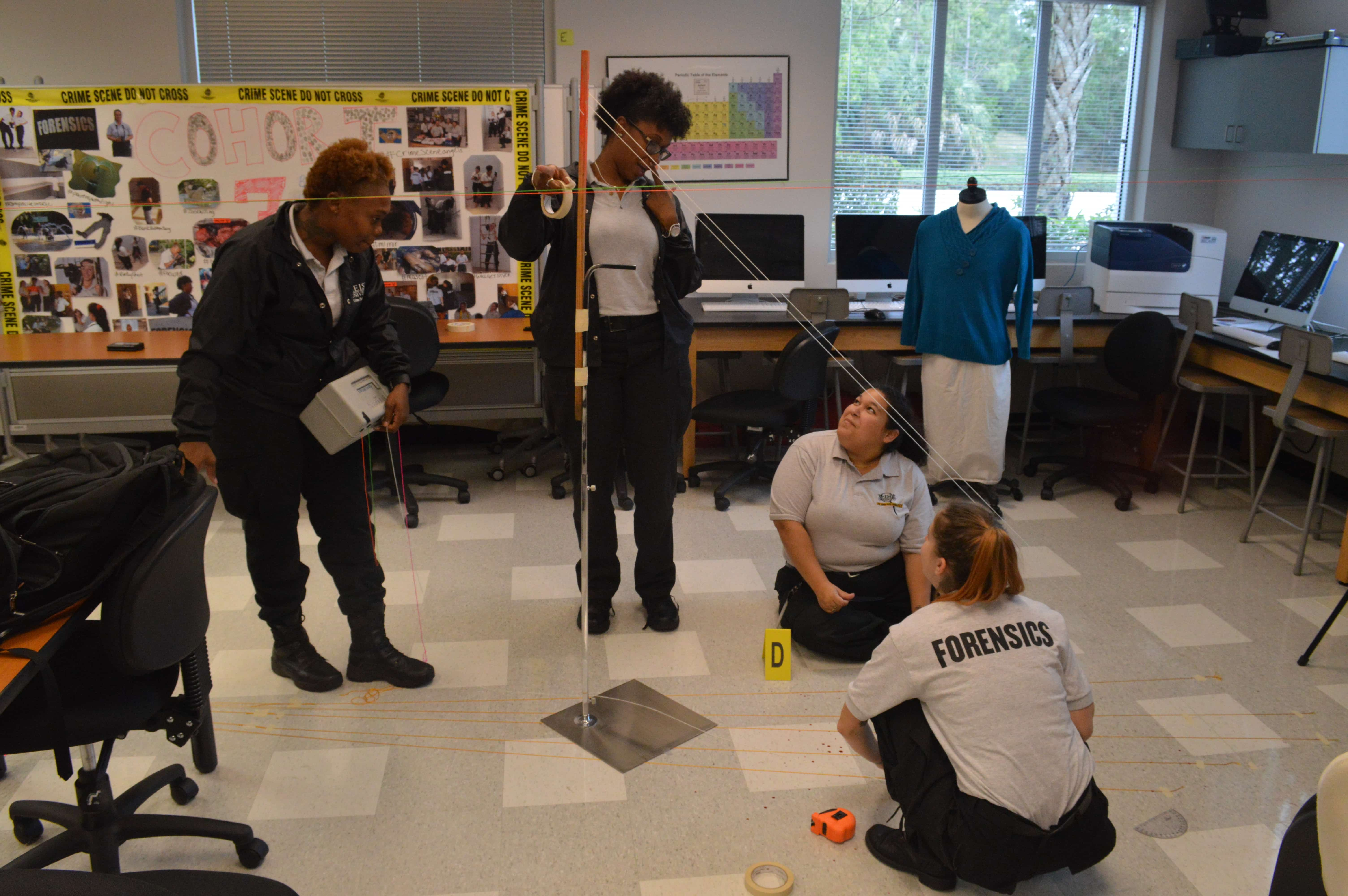 West Palm Beach CST Students Learn About Gun Shot Wounds - Keiser