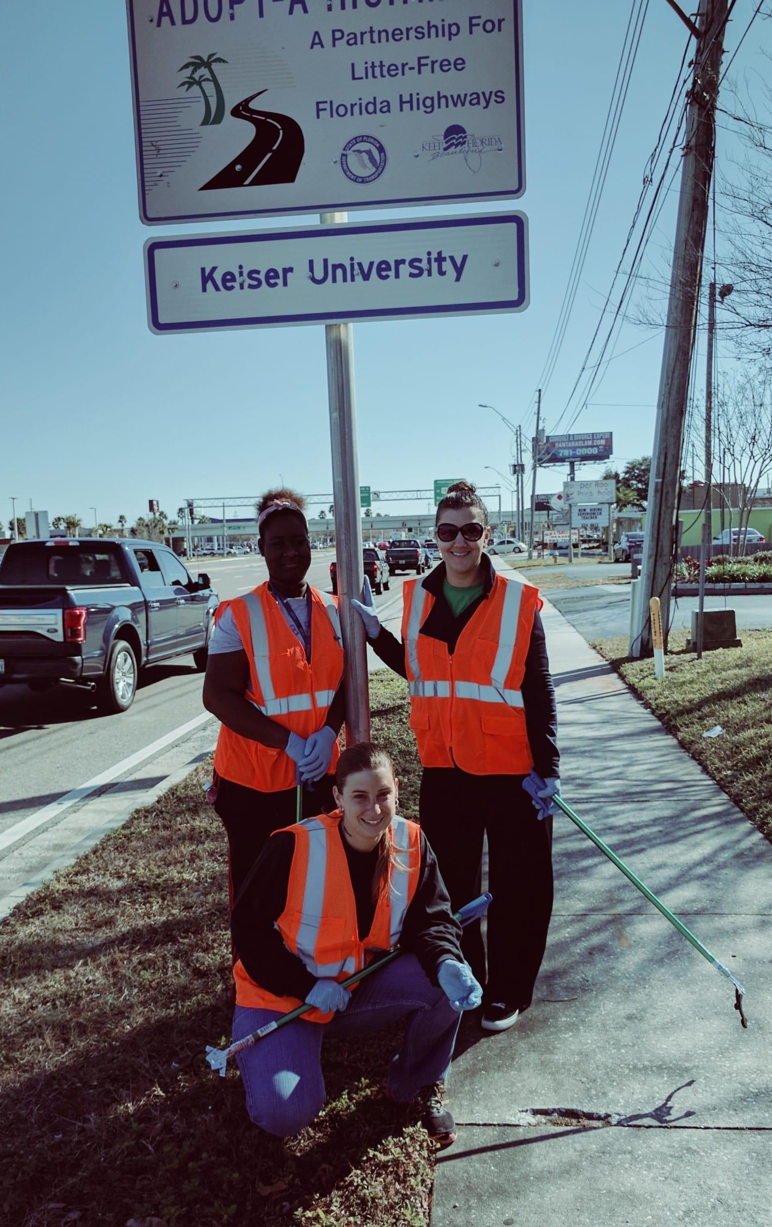 Clearwater SGA Members Volunteer to Clean-Up Roads