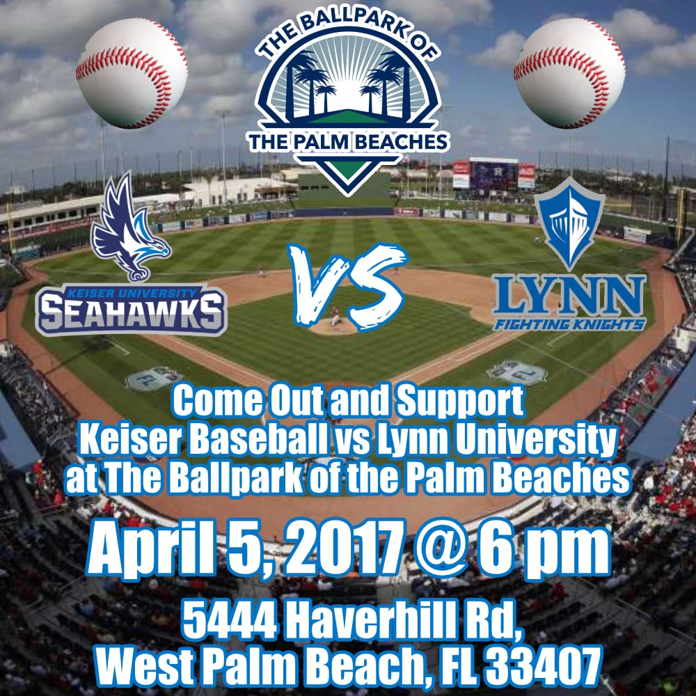 Support KU Seahawks Baseball vs. Lynn University