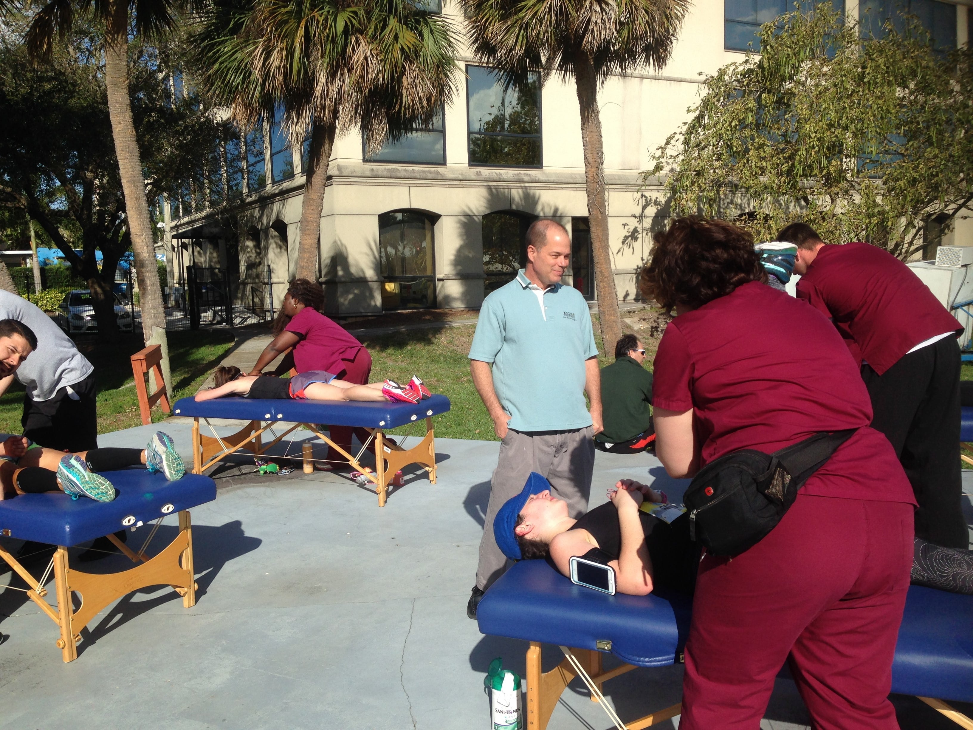 Massage Therapy Students Supports Marathon of the Treasure Coast