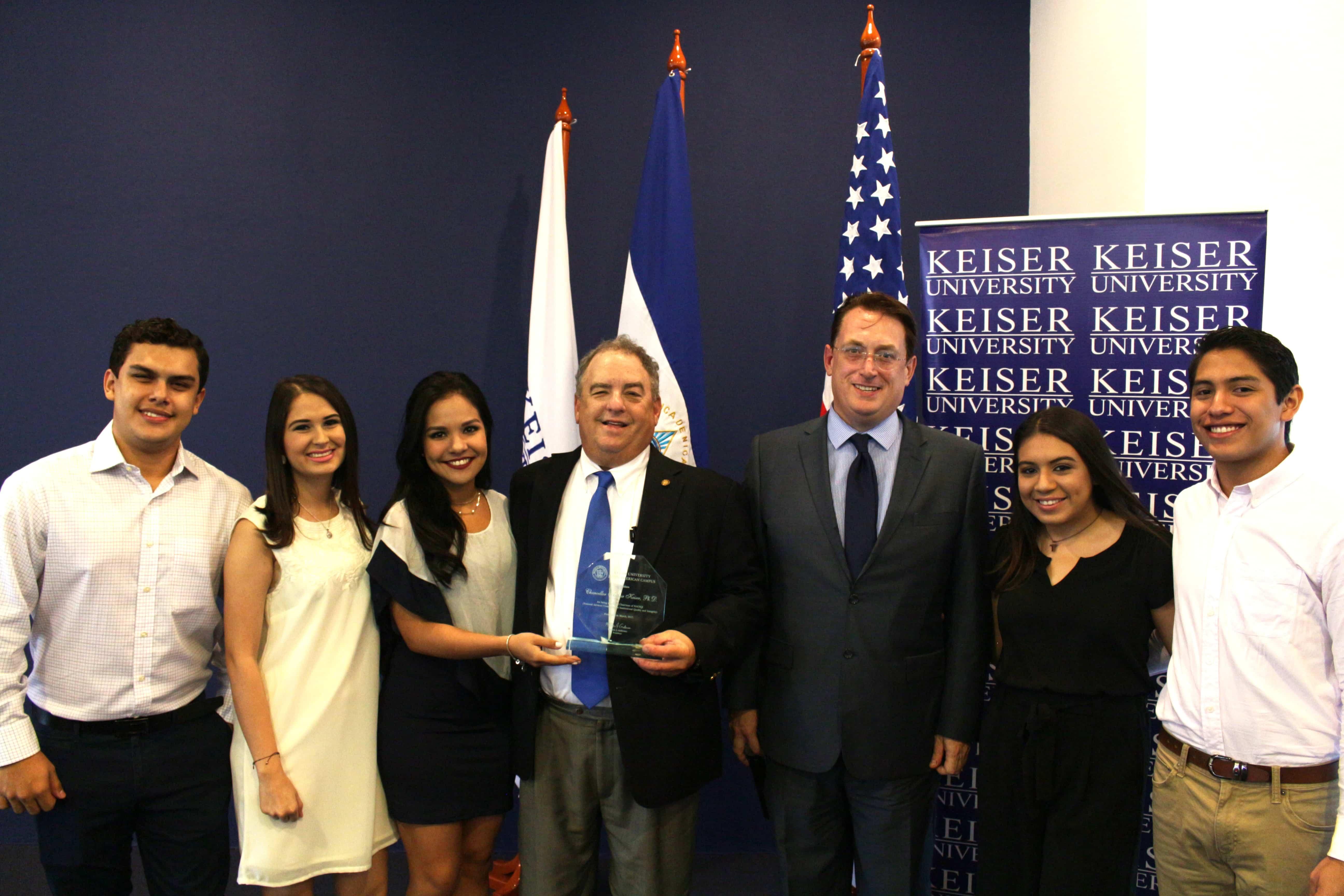 Latin American Students Honor Dr. Keiser