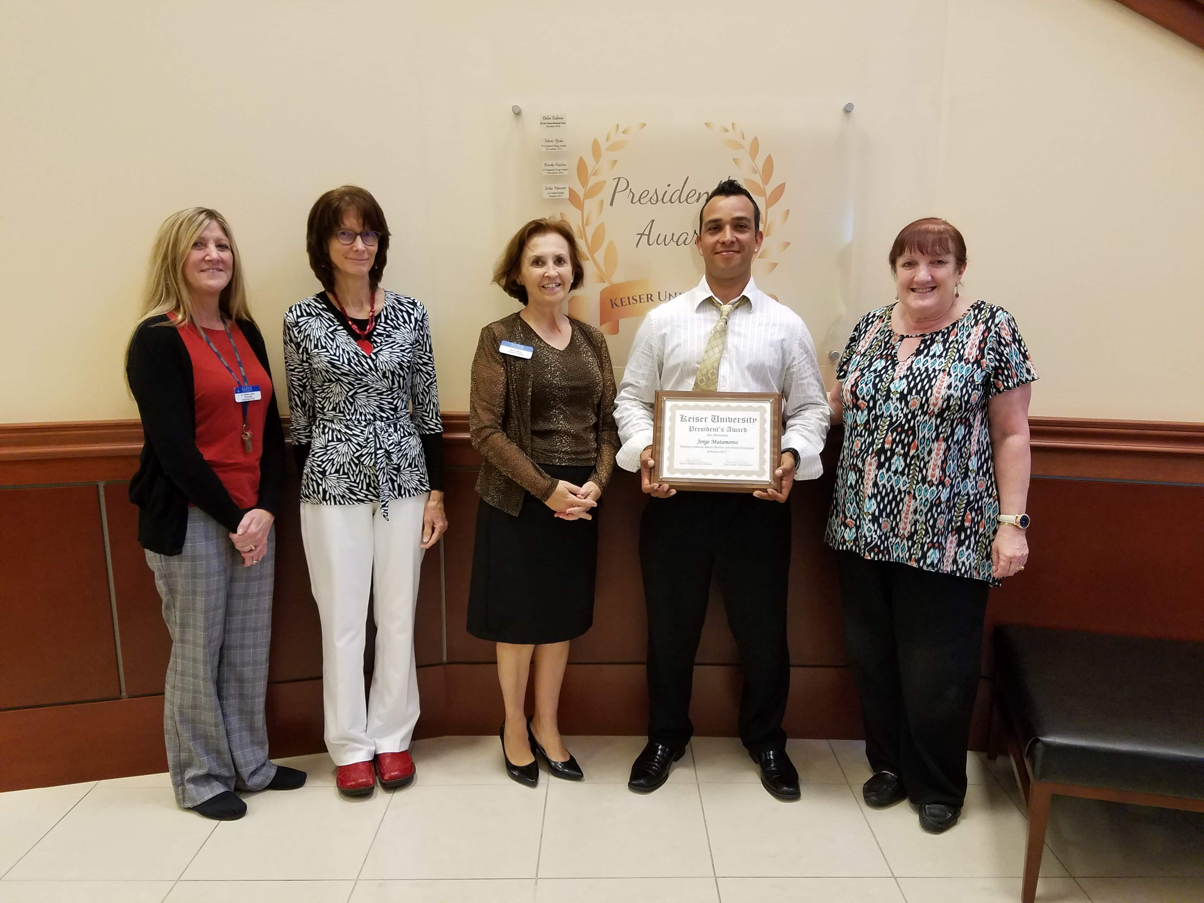 Distinguished Mentor is Presented the President's Award at Fort Myers Campus