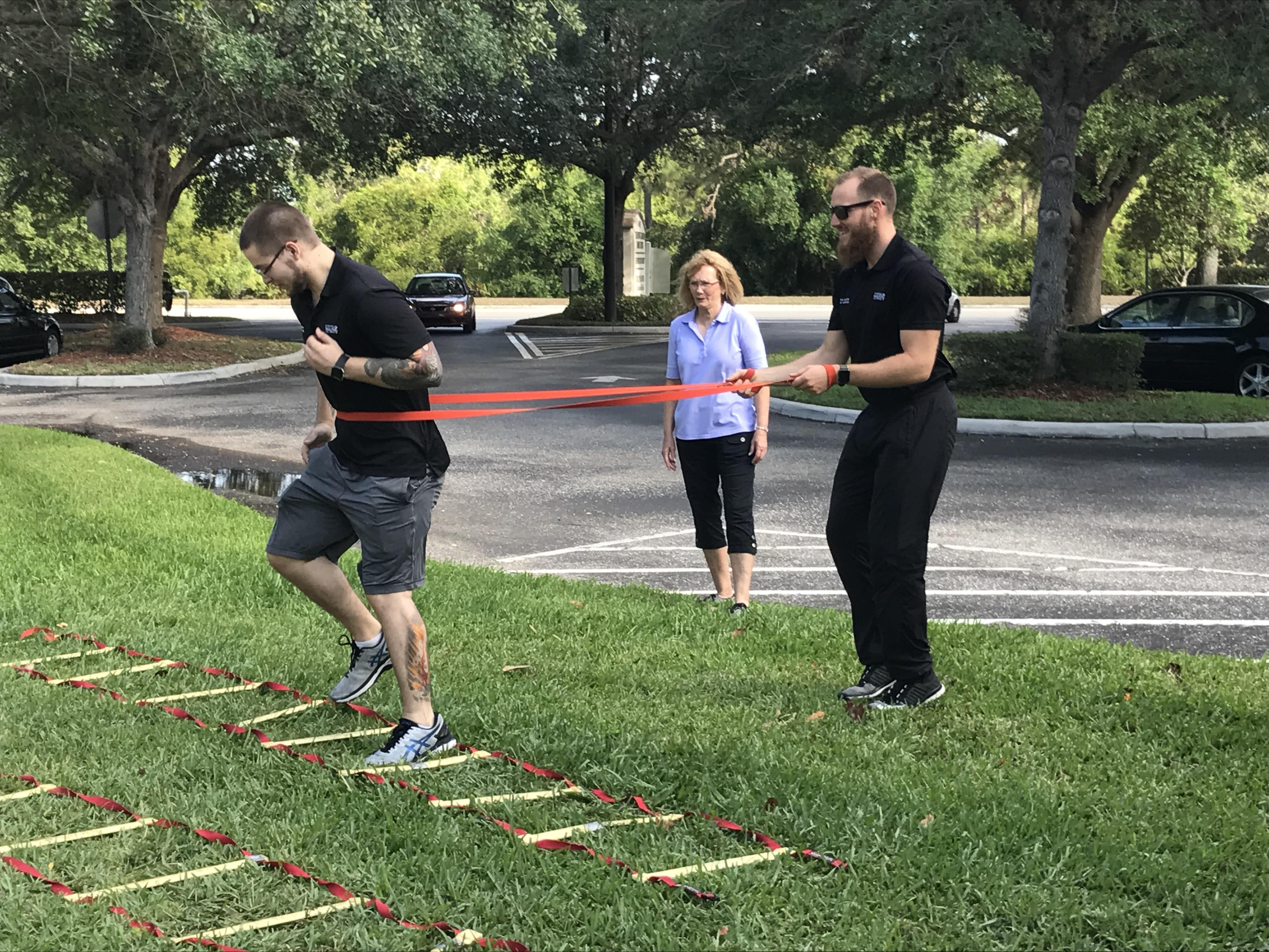 Sarasota SMFT Students Practice Agility Drills