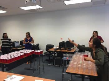 Scrabble Pong for Vocabulary Development in Basic English