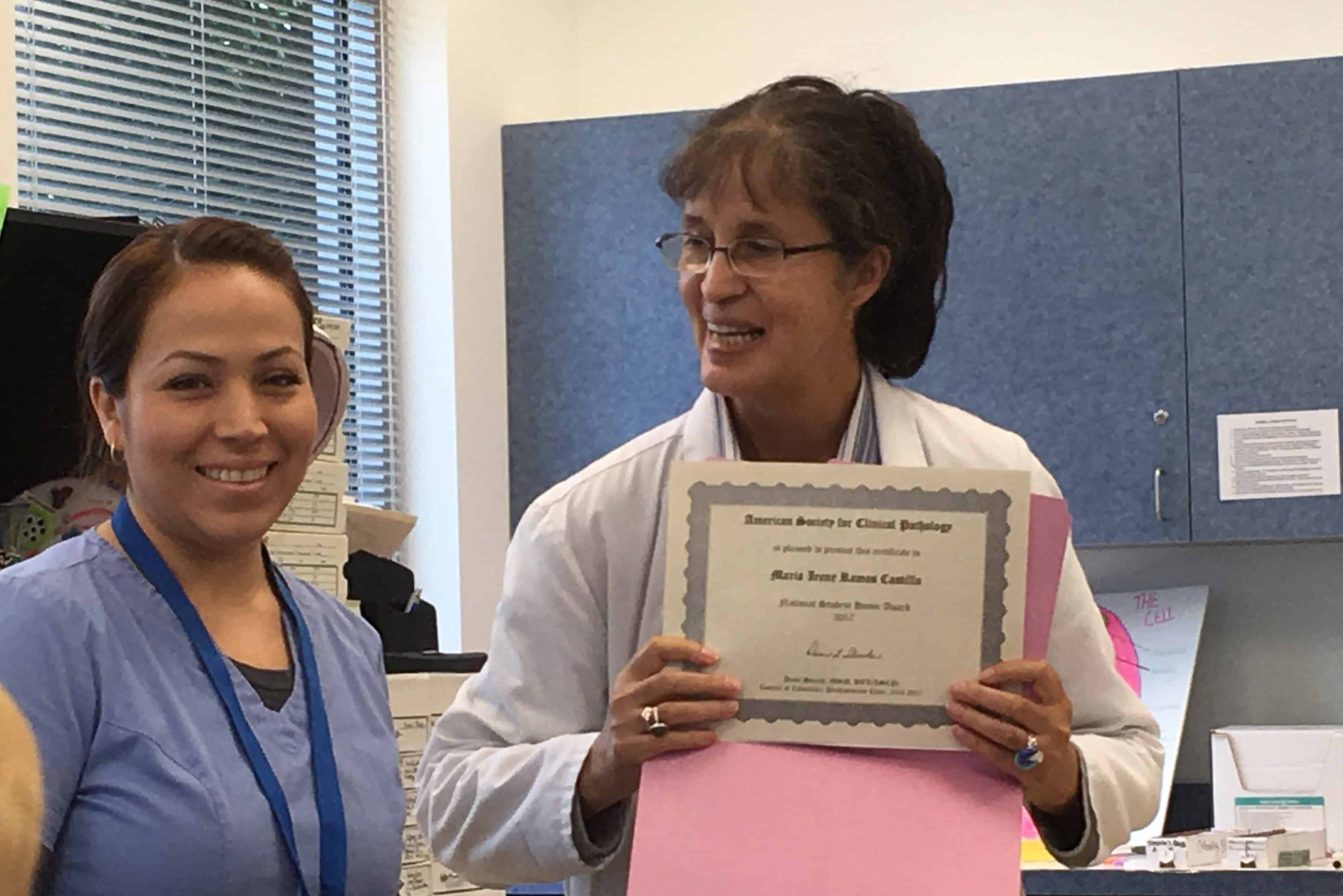 Pembroke Pines Histotechnology Student Receives Honor Award