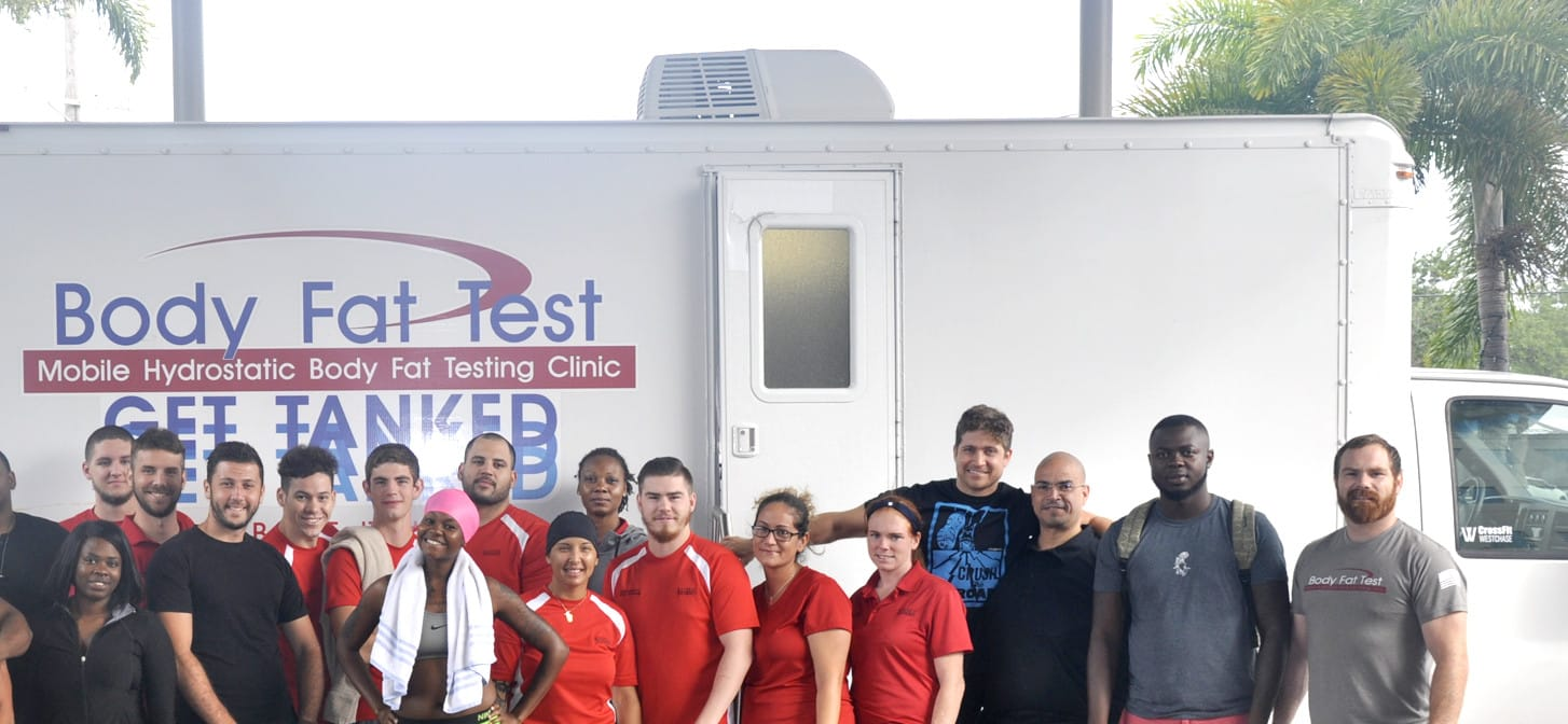 Tampa SMFT Students are Visited by Mobile Hydrostatic Body Fat Testing Clinic