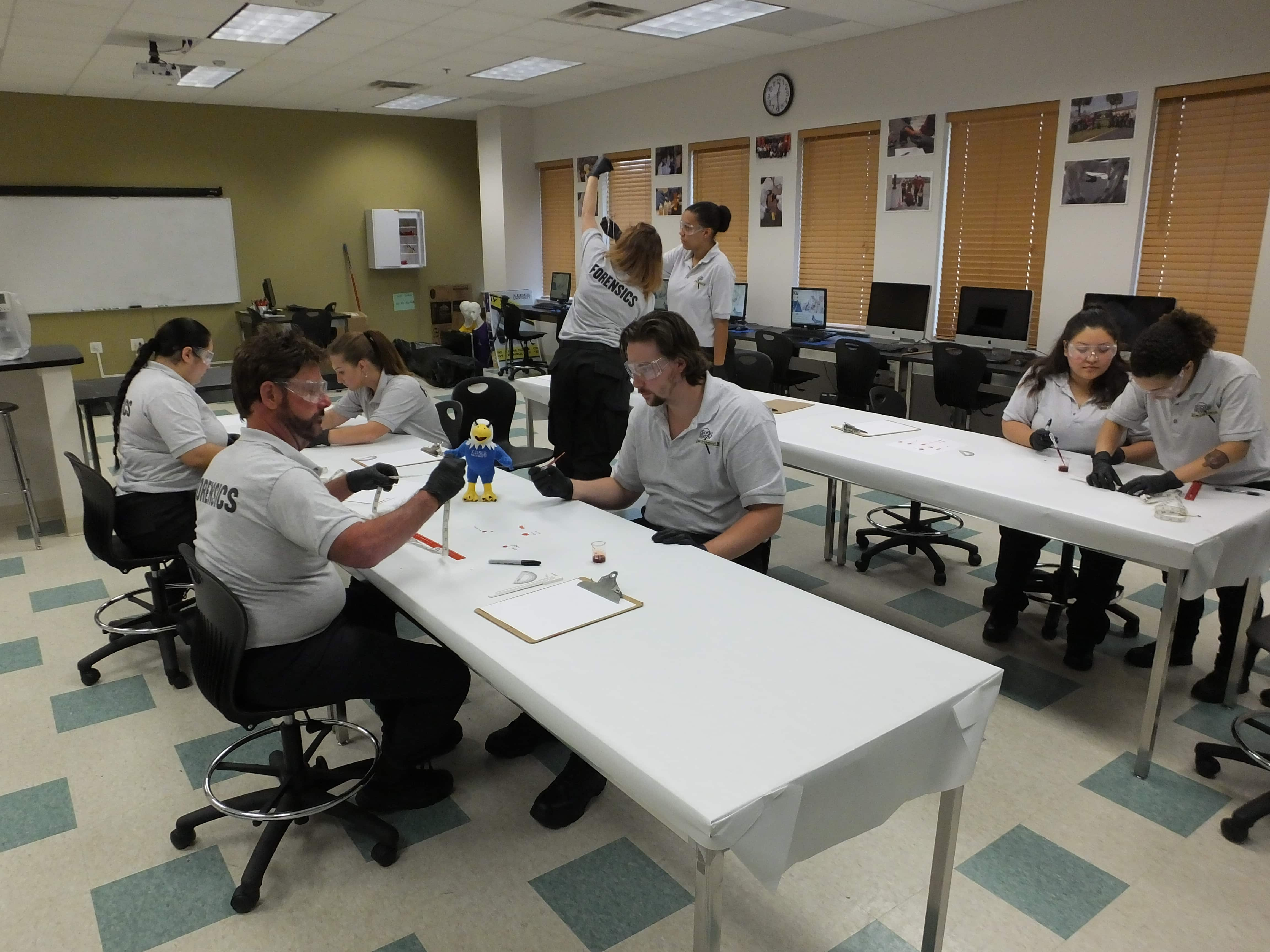Tampa CST Students Learn Bloodstain Pattern Analysis