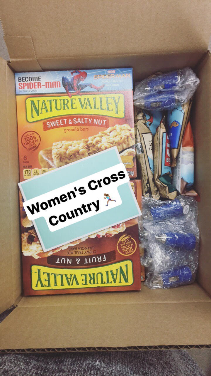 Tampa Sends Women's Cross Country Team a Care Package