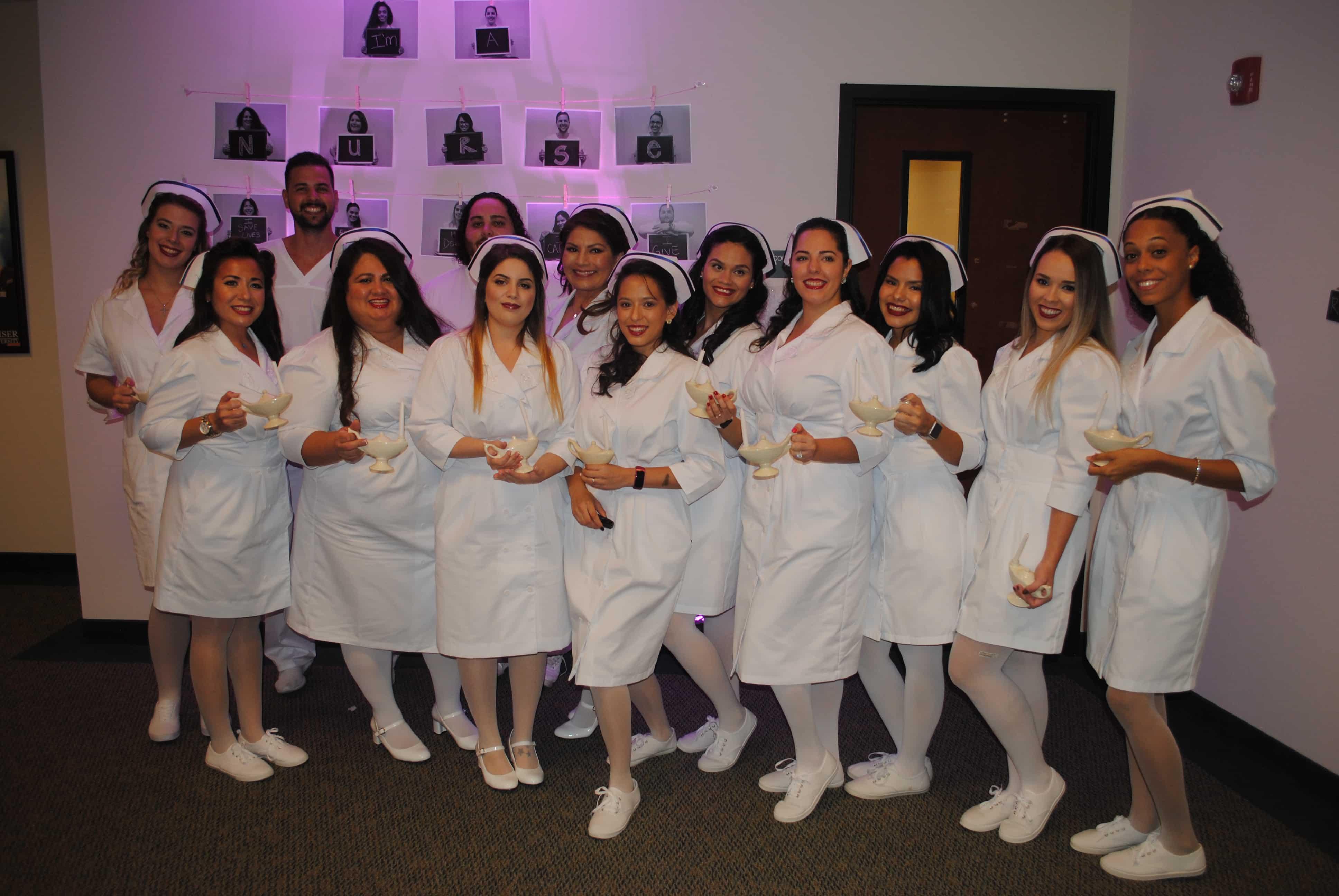 Miami Nursing Students Attending Pinning Ceremony