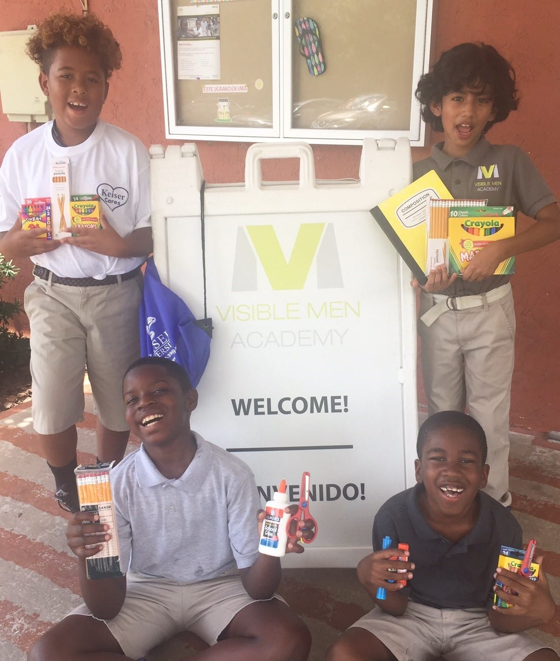 The Sarasota Campus Donates School Supplies to Visible Men Academy