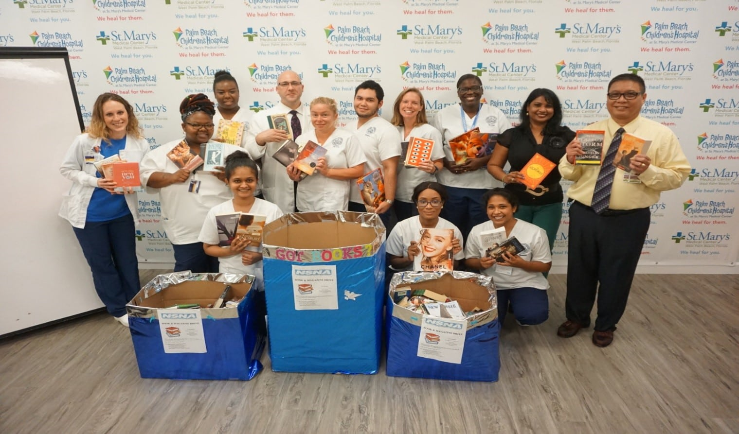 West Palm Beach Campus Collects Books for the National Student Nursing Association