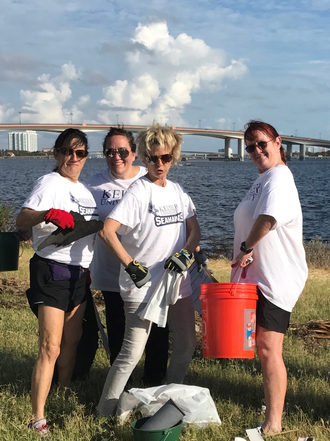 Daytona Campus Participates in Coastal Clean-Up After Hurricane Irma