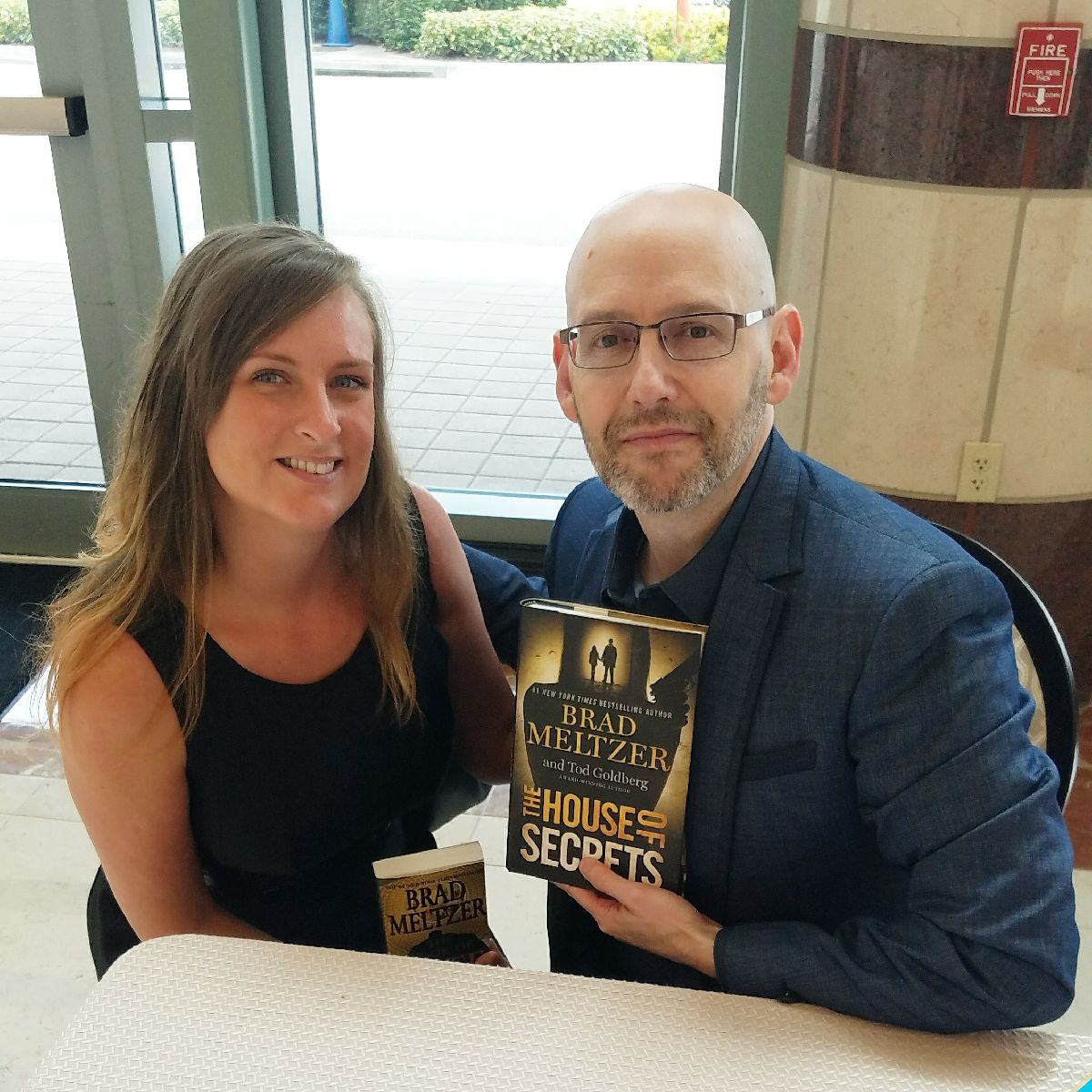West Palm Beach Students Meet Brad Meltzer at Forum Club