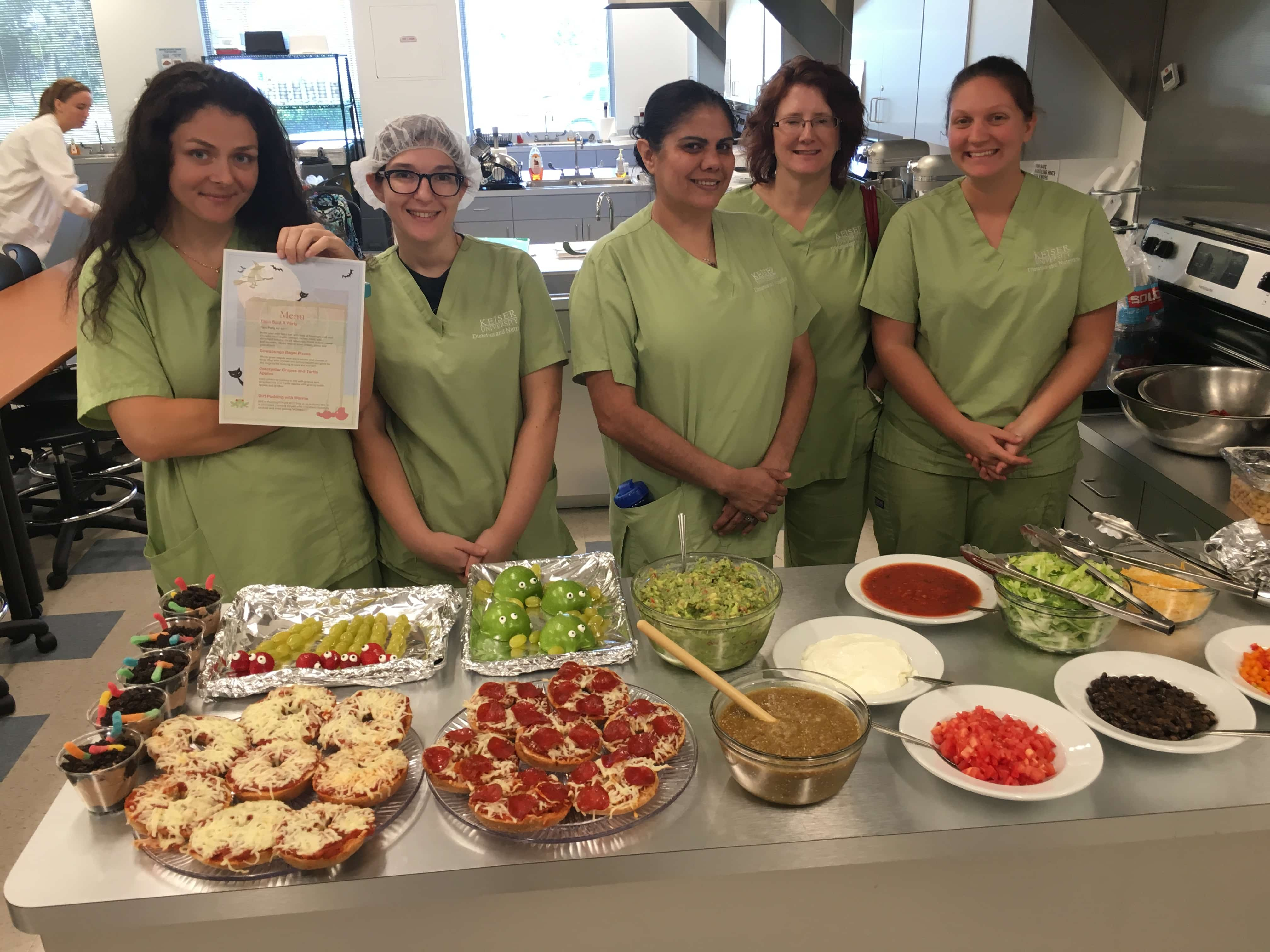 Dietetics & Nutrition Students Create Clinical Pediatric Menu Items