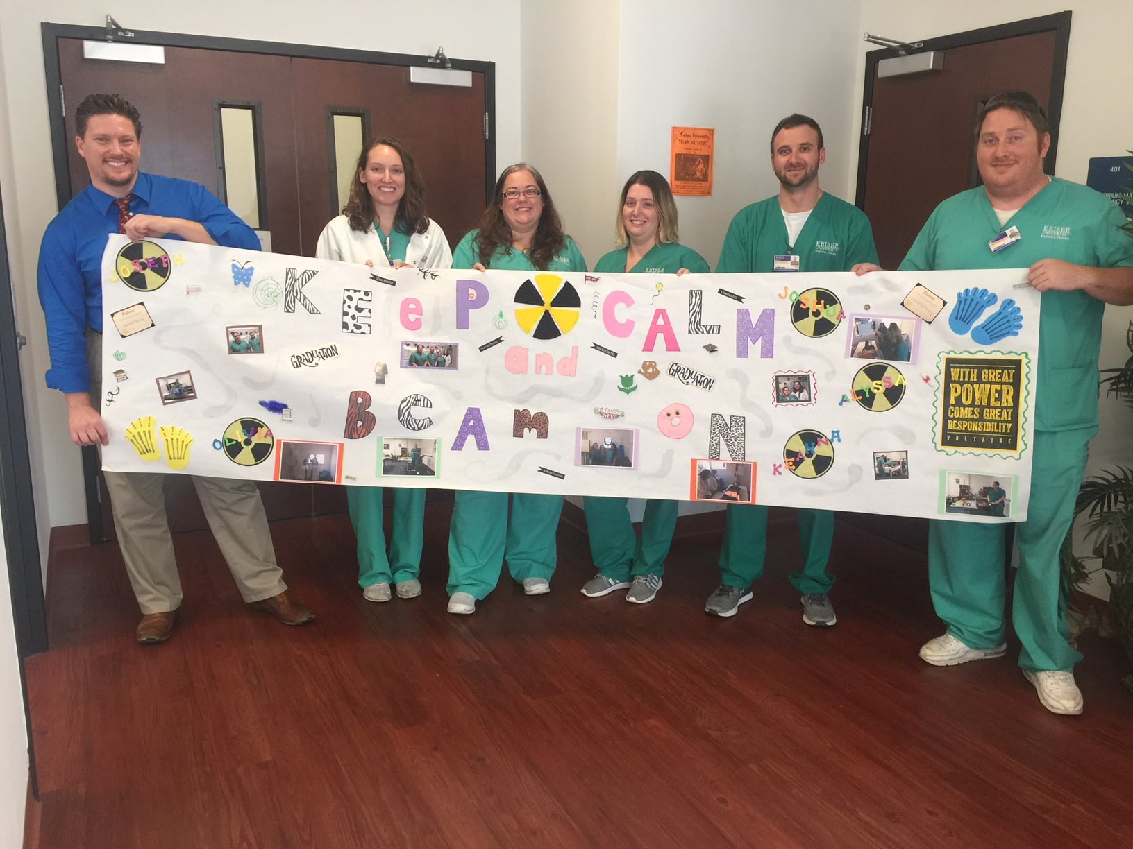 Radiation Therapy Students Celebrate Last Day