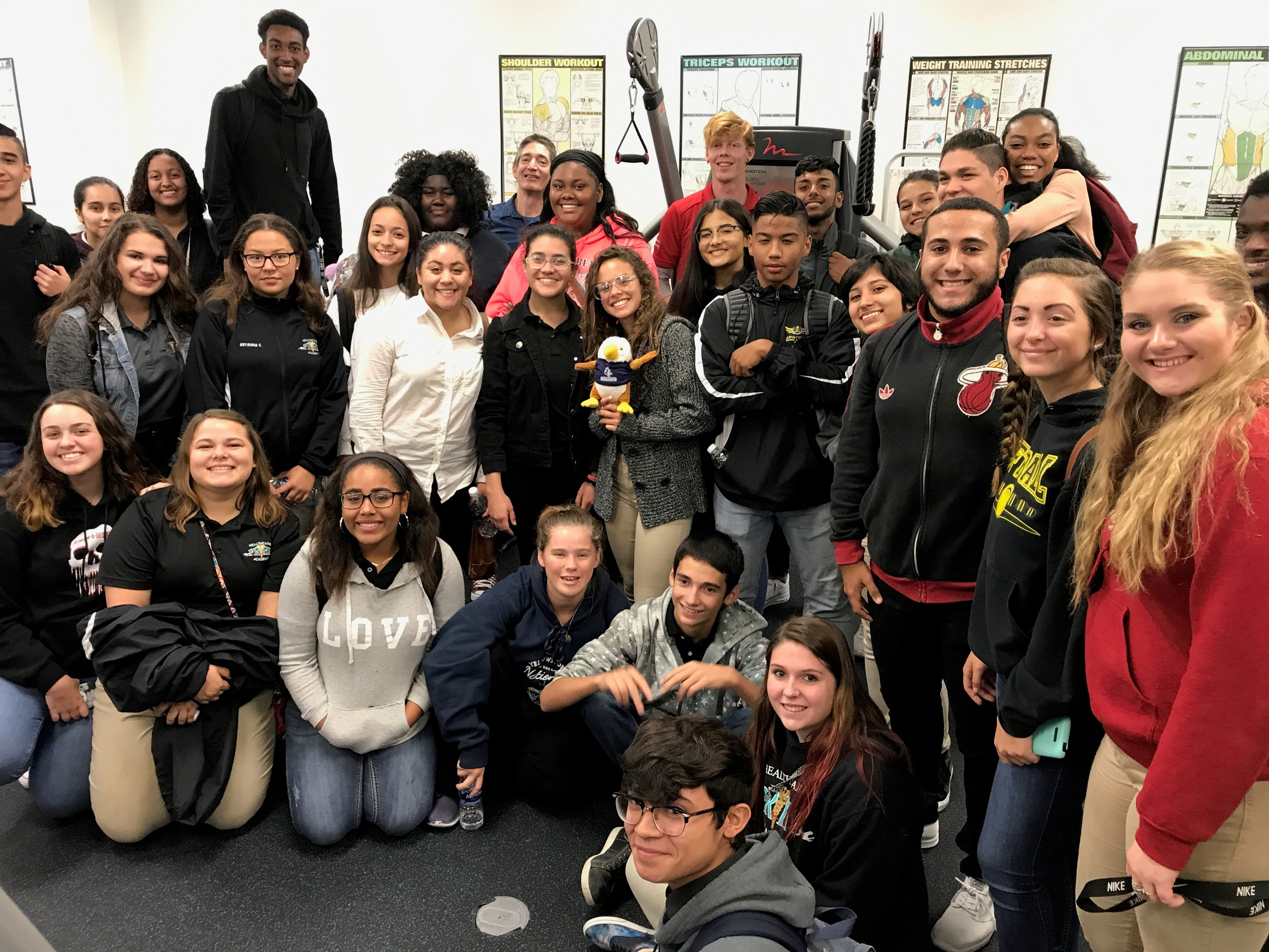 Pine Ridge High School's Health Academy Visits the Daytona Campus