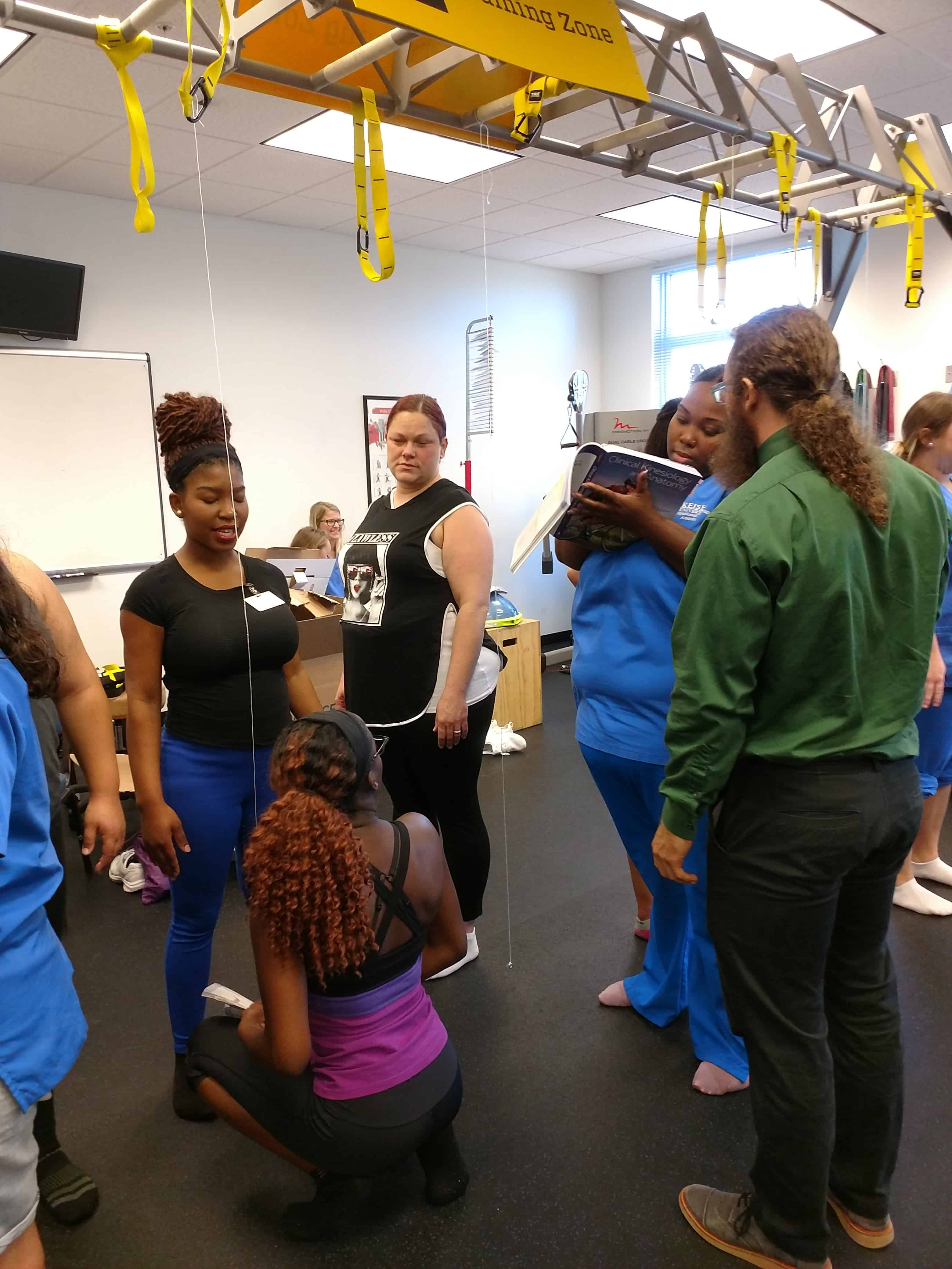 "Fort Myers OTA Students Invade Sports Medicine Gym to ""Posture"" Themselves for Future Success"