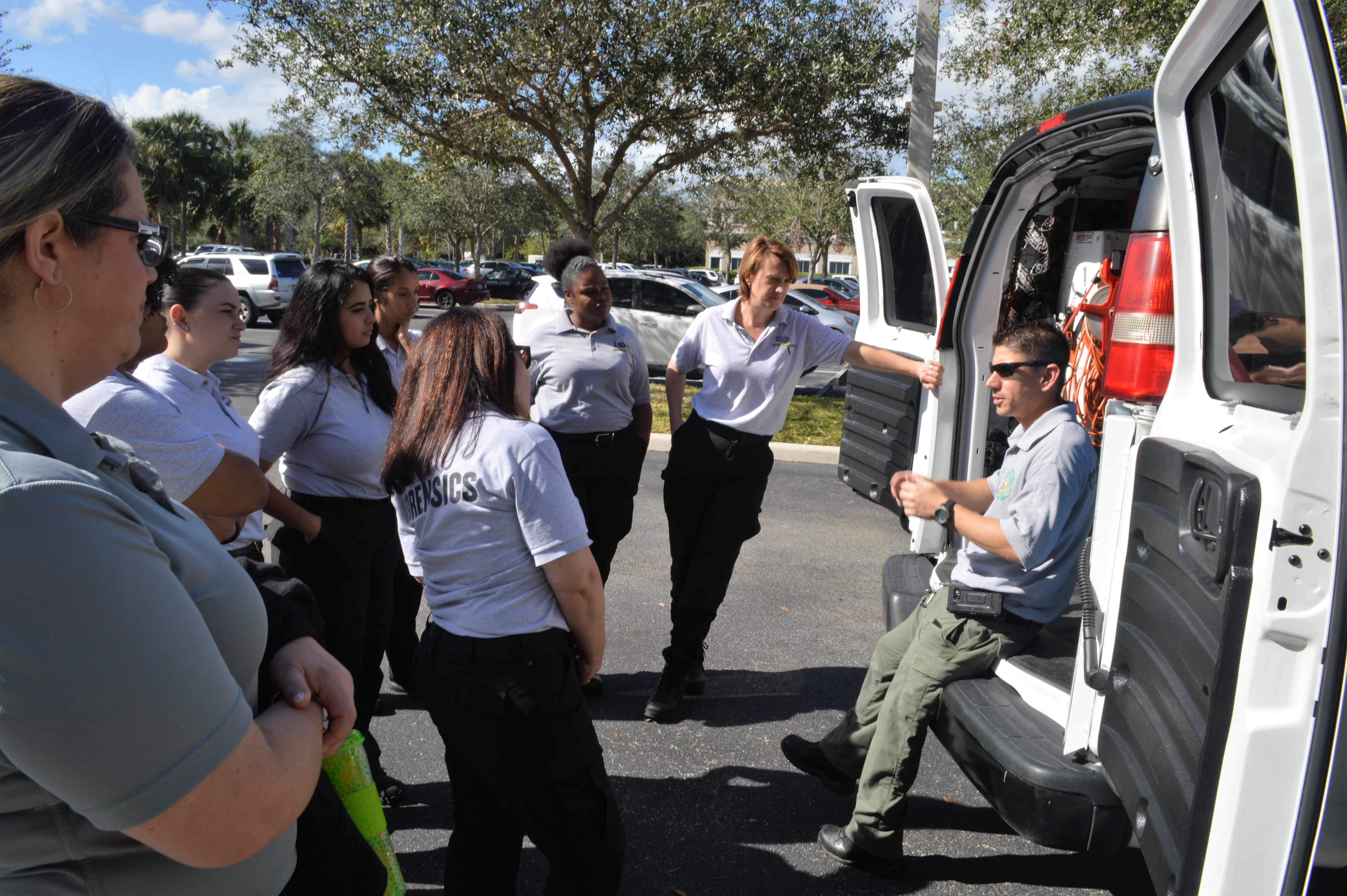 CST Students in West Palm Beach Welcome a Guest