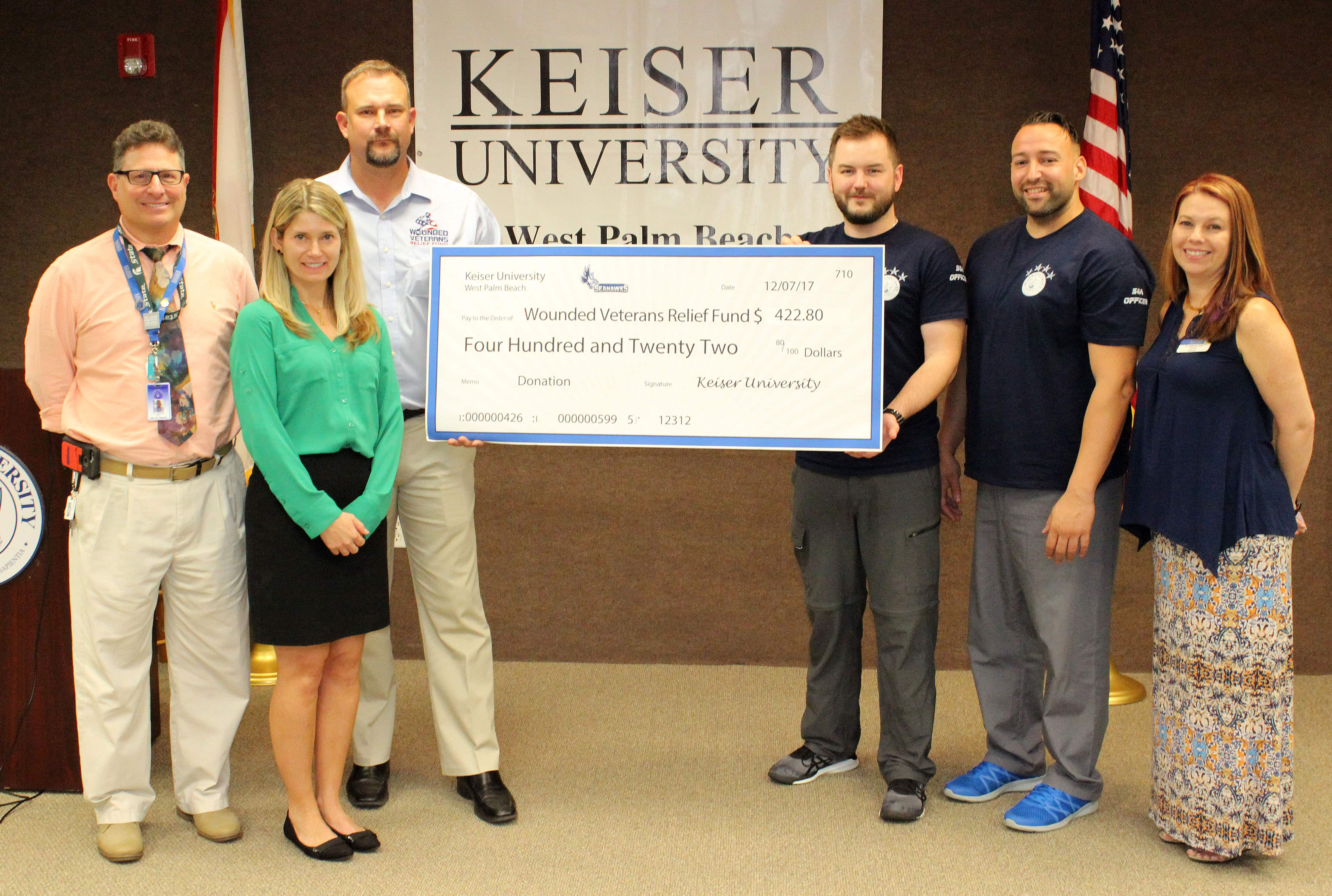 West Palm Beach SGA Makes Donation to Wounded Veterans Relief Fund