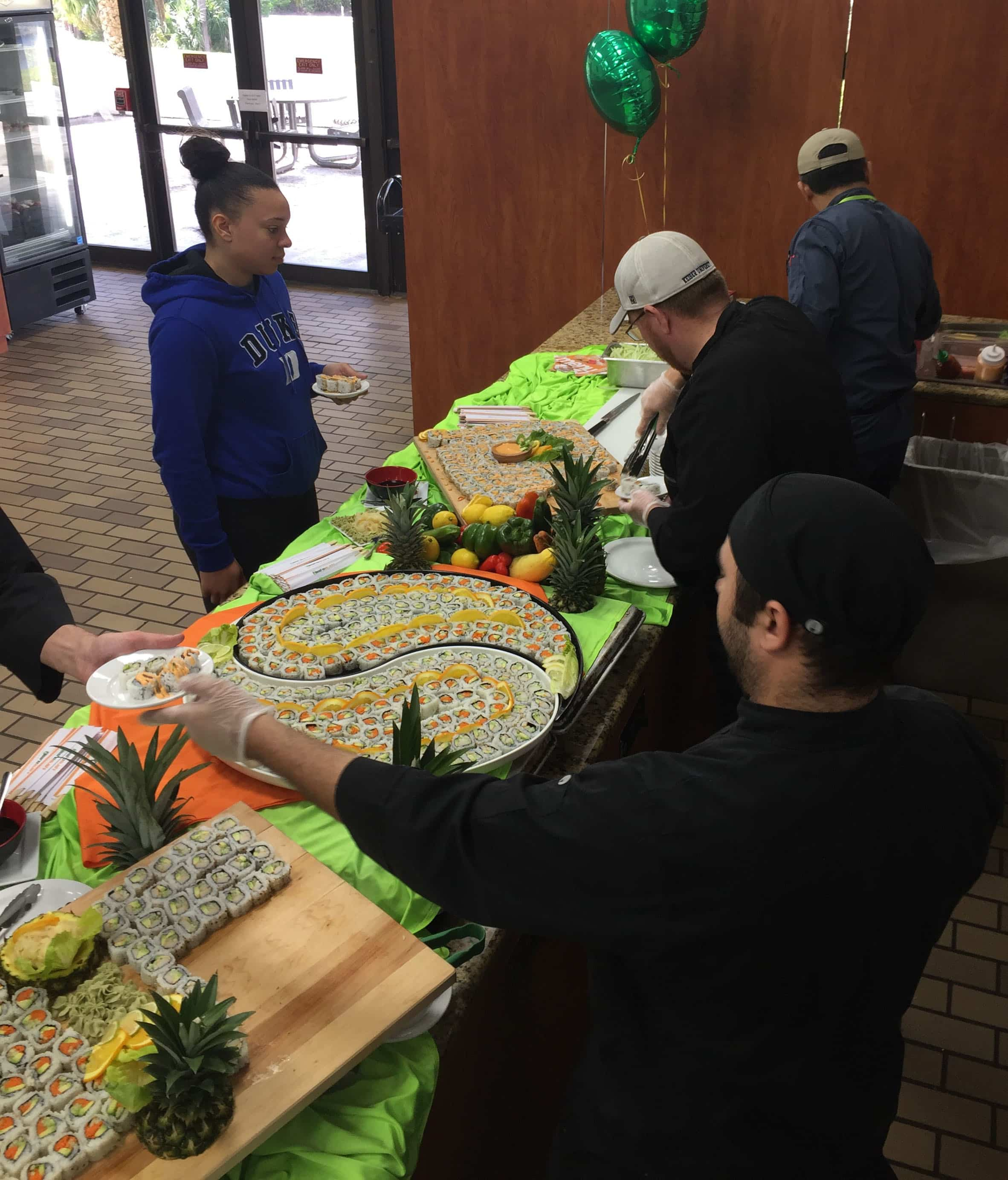 Flagship Campus Students Enjoy Sushi Day