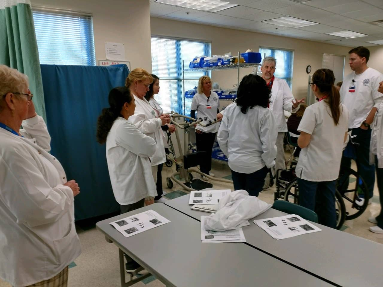 Nursing Students Train with PTA Students on Patient Care Skills