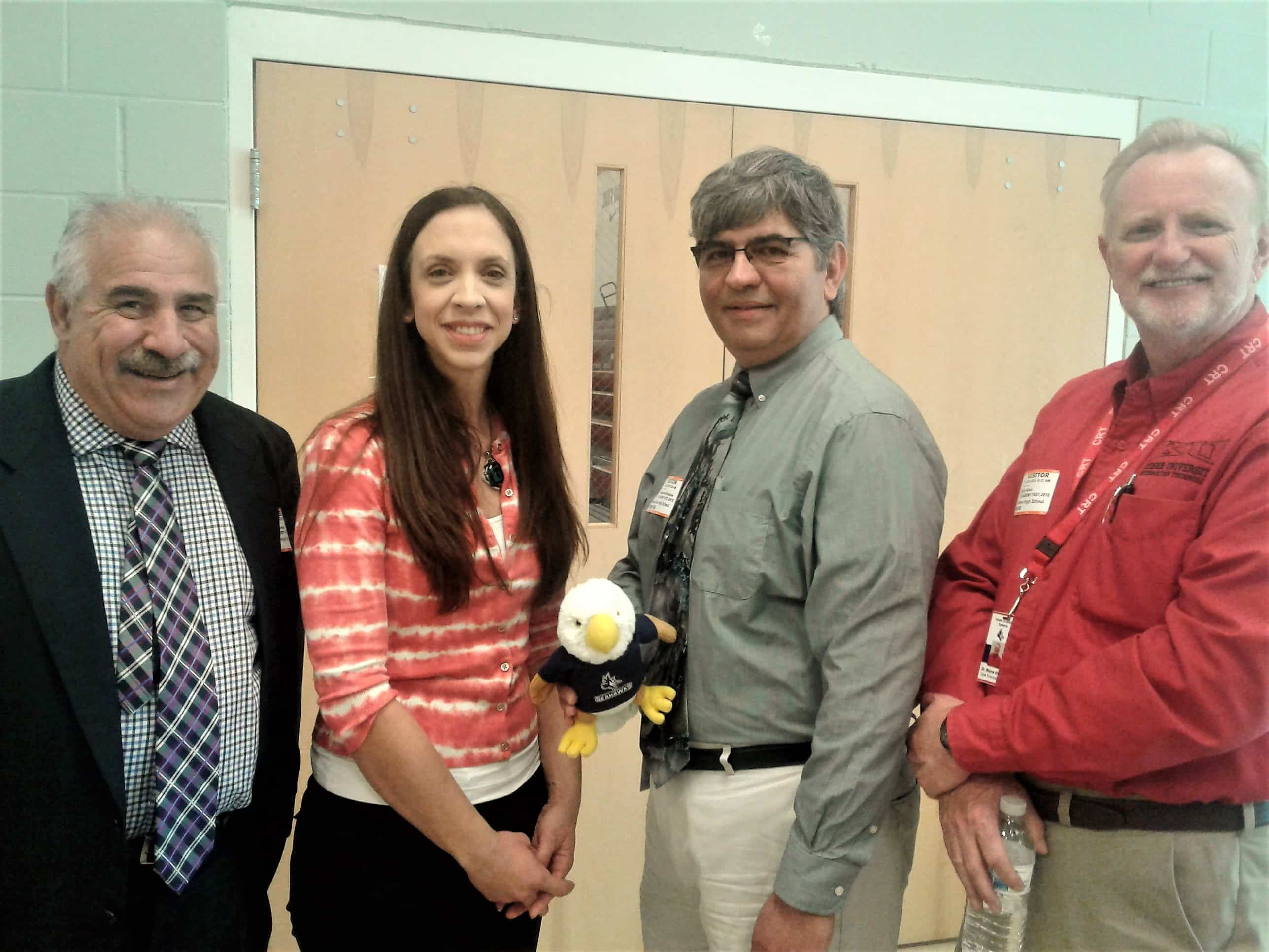 Faculty and Program Directors Take Part in High School Career Day