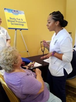 Tampa Nursing Students Help Out at Health Fair