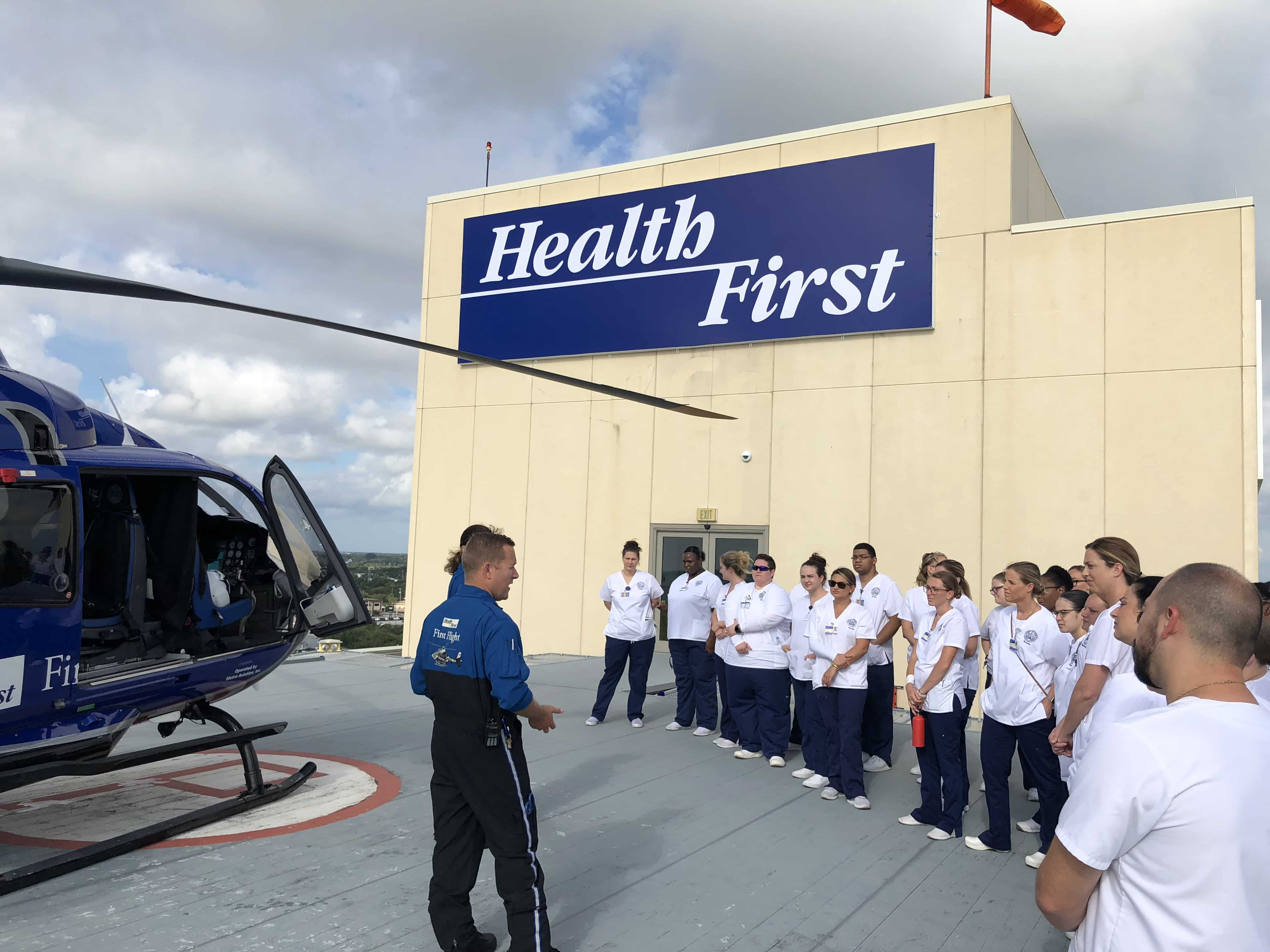 Melbourne Campus Nursing Students Enjoy Tour of First Flight Helipad