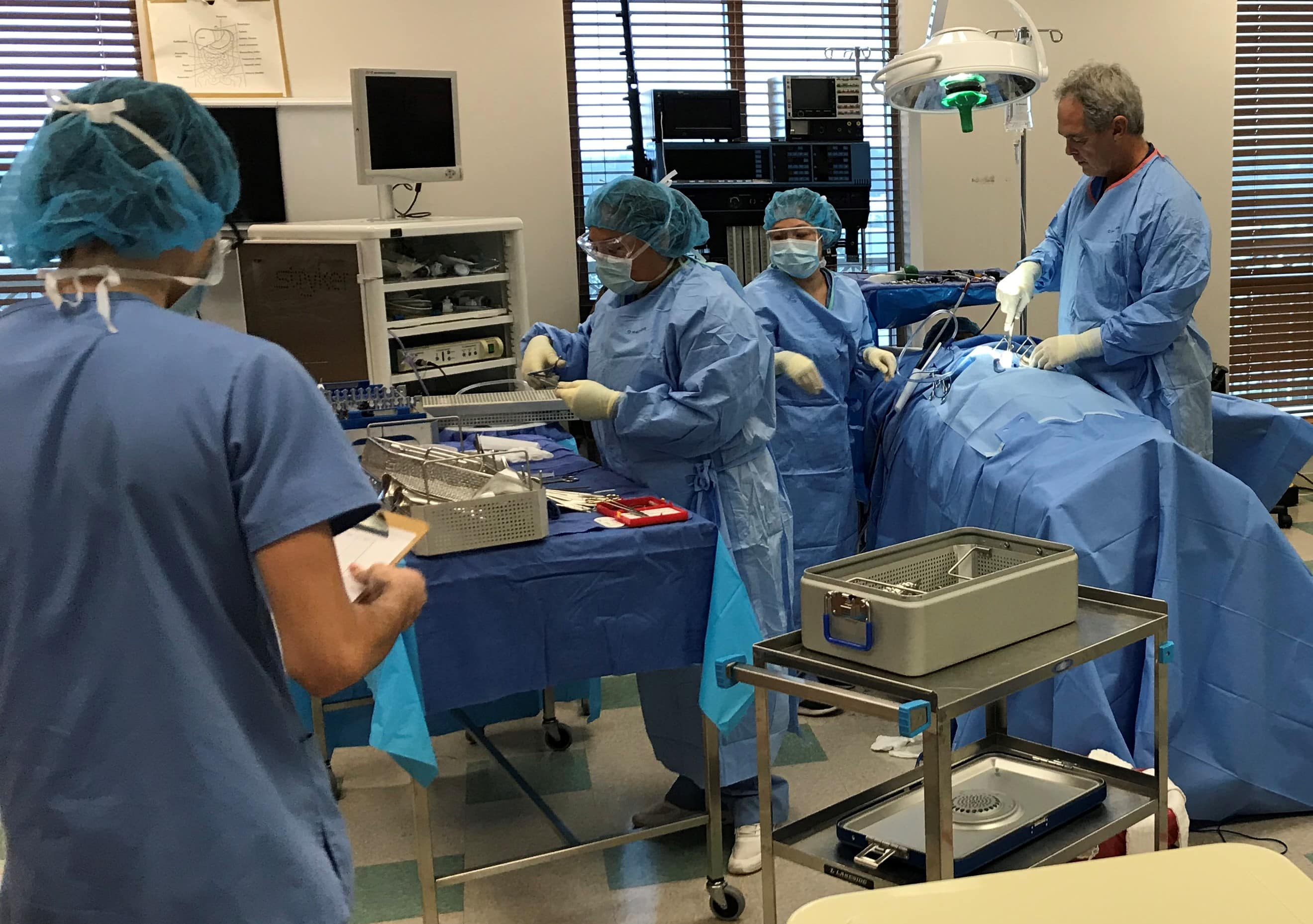 Surgical Technology Lab Provides Great Training for Operating Room Experience