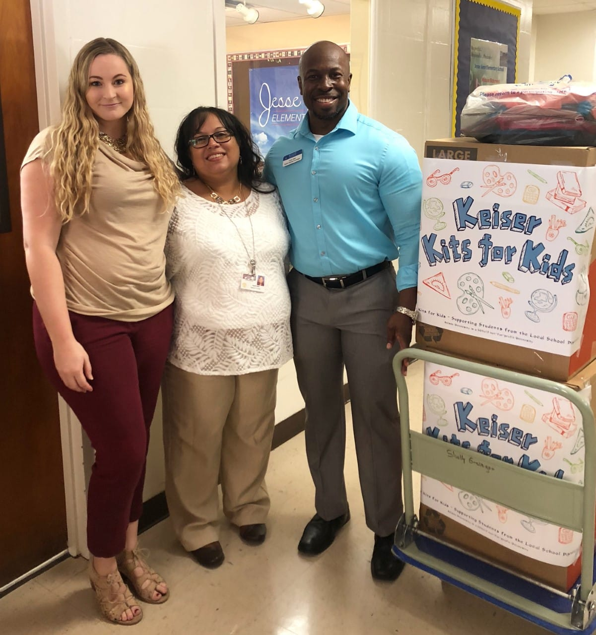 Keiser Kits for Kids School Supply Donations Benefit Lakeland Elementary School