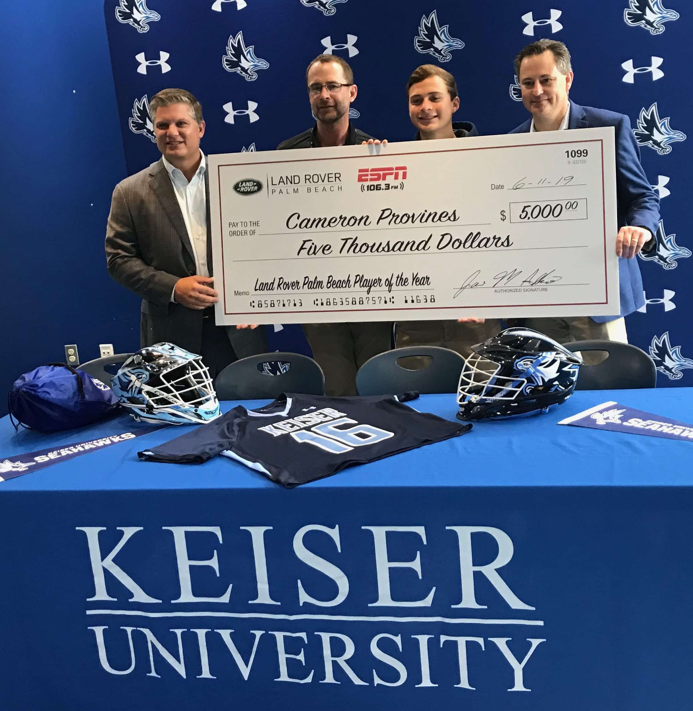 Treasure Coast Athlete Receives Surprise Land Rover Scholarship at Keiser University