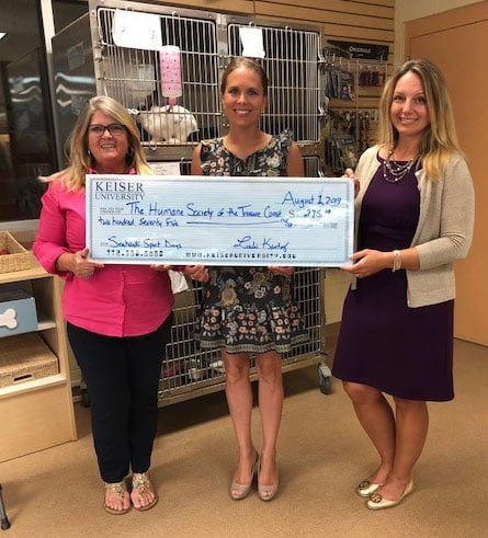 Keiser University's Port St. Lucie Campus Supports the Humane Society of the Treasure Coast