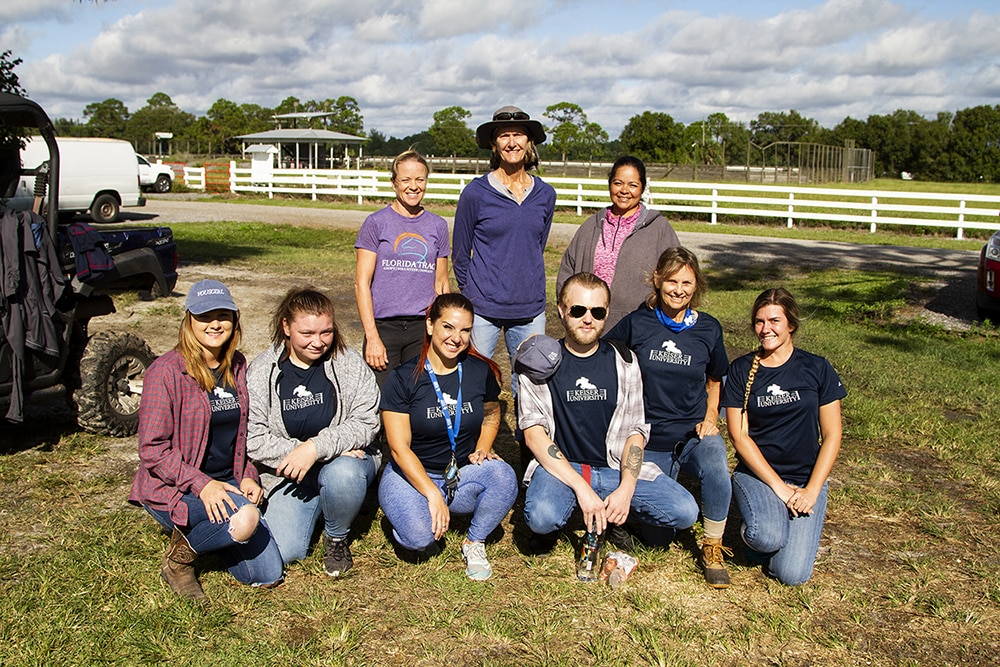 Keiser University's Equestrian Team Partners with Thoroughbred Rehoming Facility
