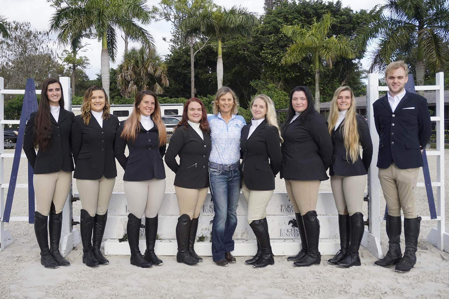 Keiser and Brown University Equestrian Team Members Enjoy 'Horsing Around'