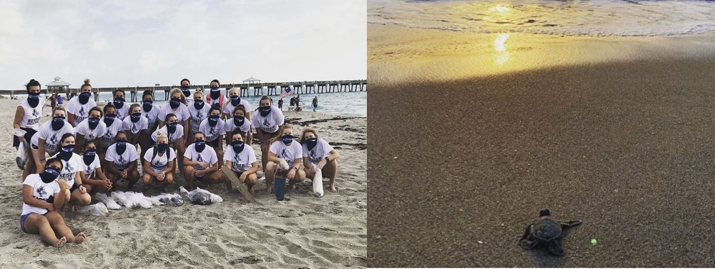 Keiser University Volleyball Team Members Receive Special Surprise at Beach Clean-Up