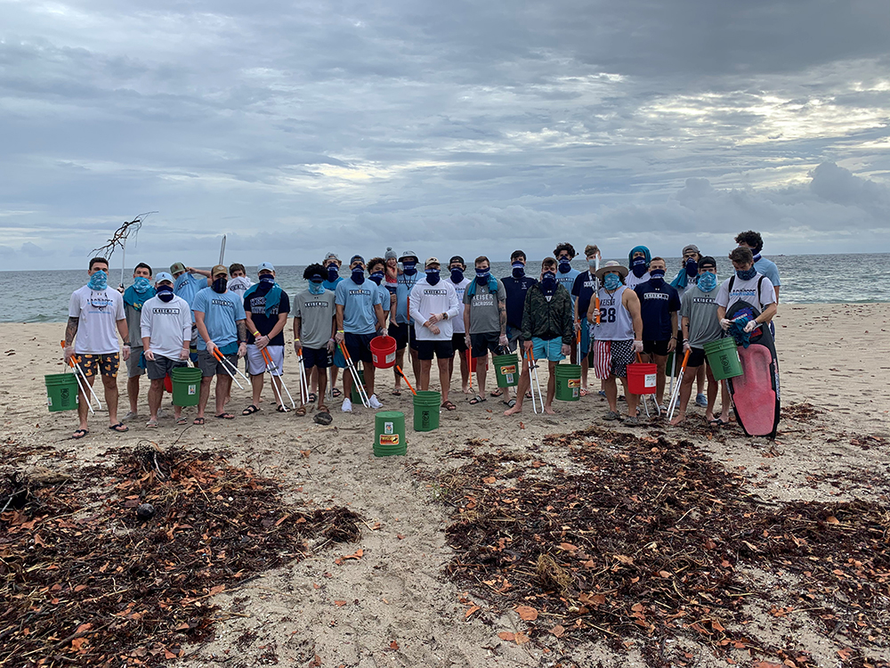 Seahawk Lacrosse Team Members Roll-Up Sleeves to Clean-Up Florida's Coast