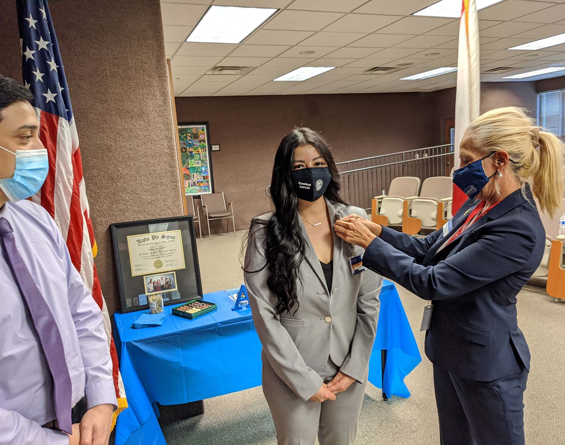 Criminal Justice Student is Inducted Into the Alpha Phi Sigma Honor Society
