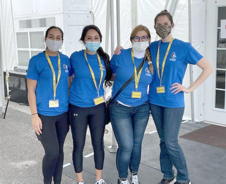 Keiser University Nursing Students Support COVID19 Vaccine Distribution