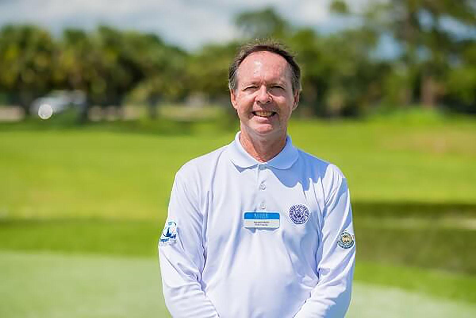 Keiser University College of Golf Professor Caddies at the Masters Golf Tournament