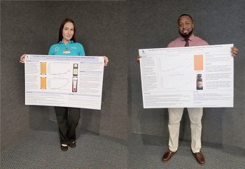 Keiser University Port St. Lucie campus students Margaret Mellons and Dimaurio Stovall recently studied the efficacy of oils to combat cancer cells as part of their undergraduate research project.