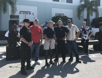 US Congressman Brian Mast and other guests at Keiser University Ruck Walk